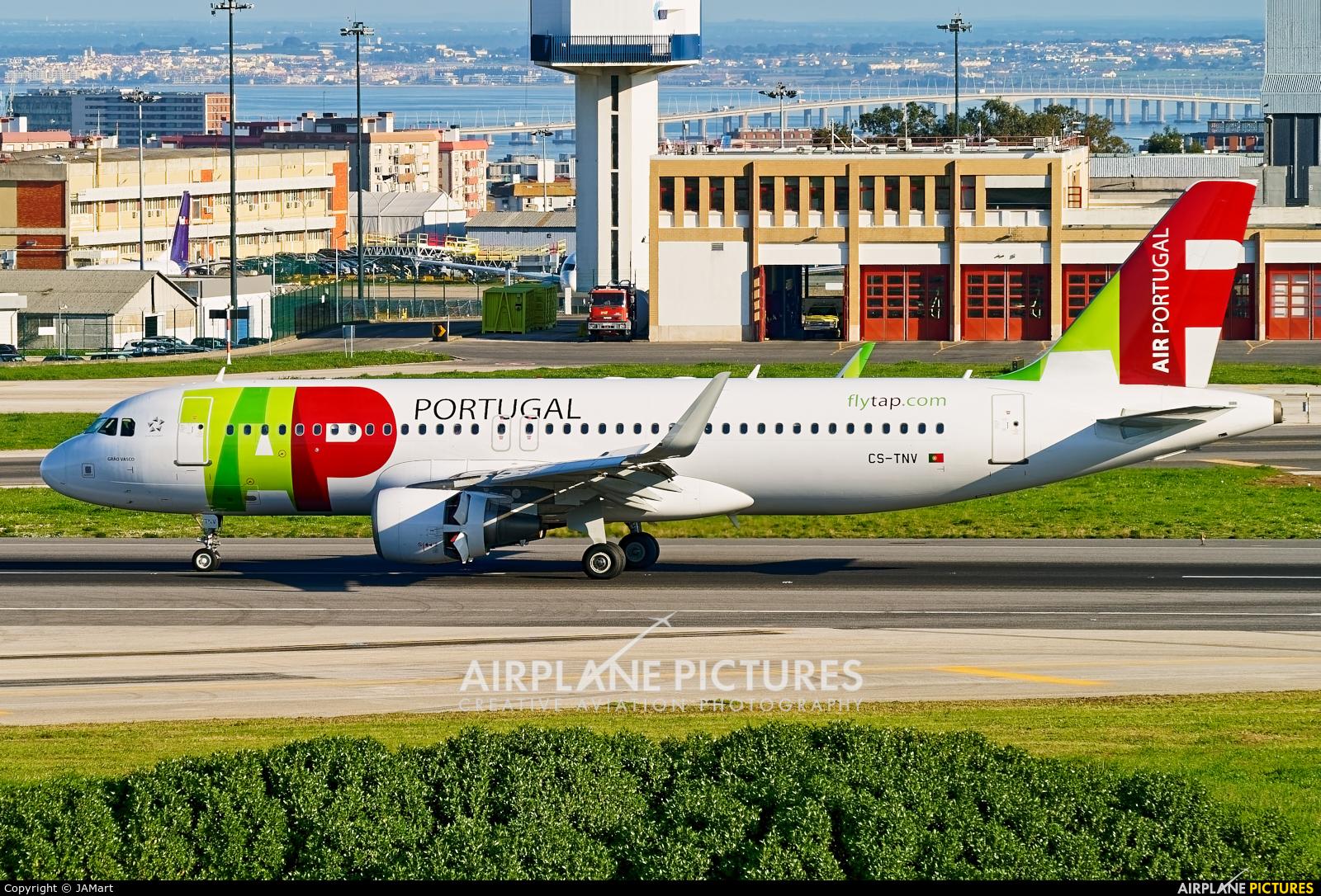 TAP Portugal CS-TNV aircraft at Lisbon