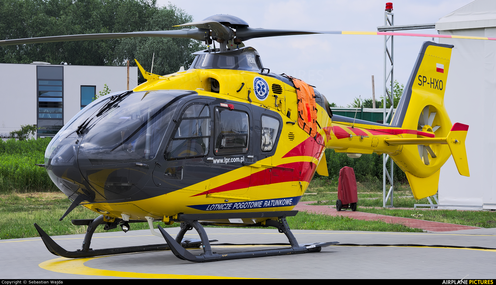 Polish Medical Air Rescue - Lotnicze Pogotowie Ratunkowe SP-HXO aircraft at Płock