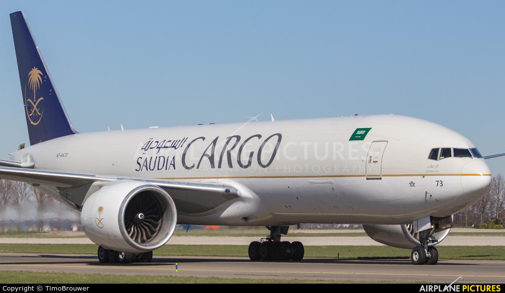 Saudi Arabian Cargo HZ-AK73 aircraft at Amsterdam - Schiphol