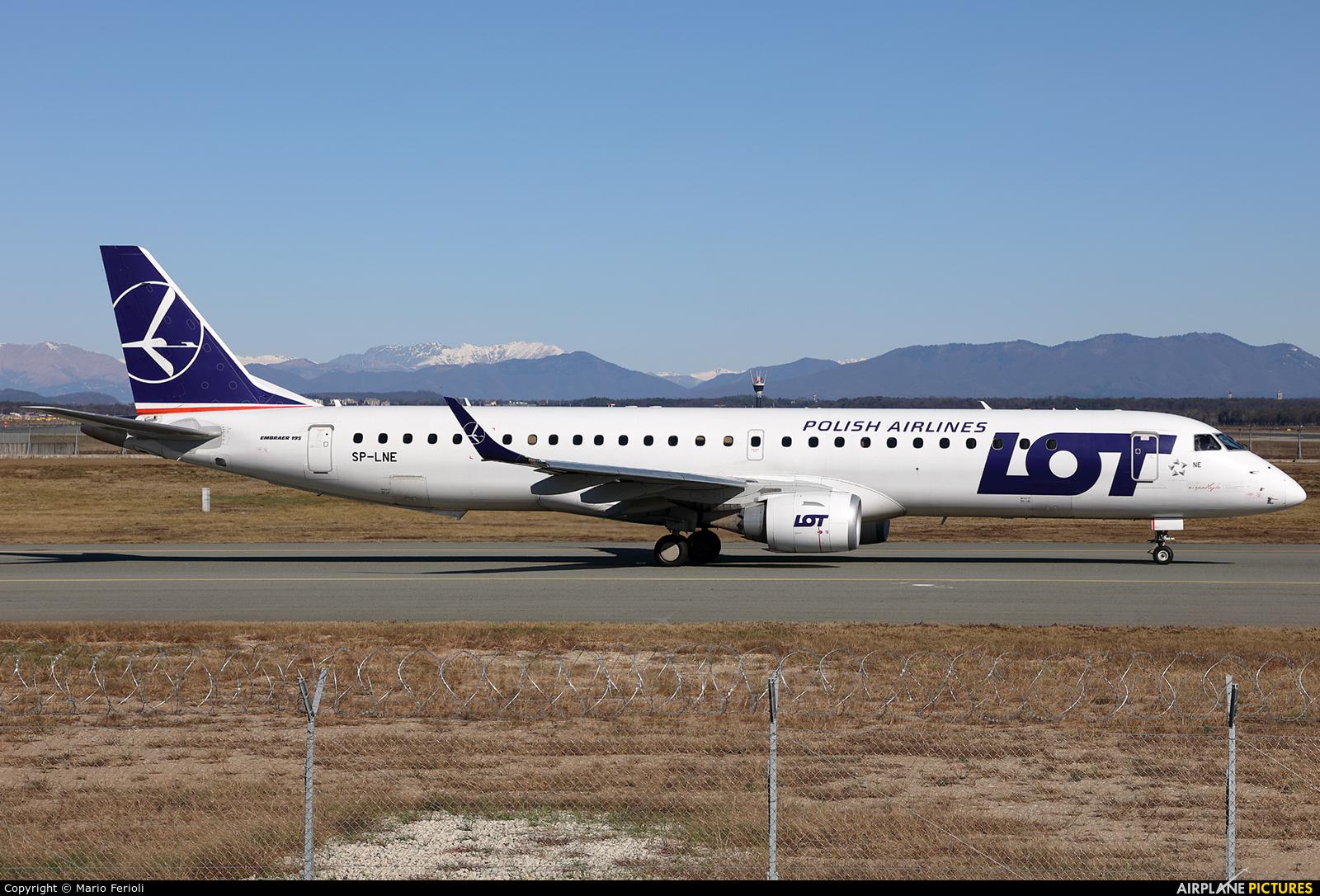 LOT - Polish Airlines SP-LNE aircraft at Milan - Malpensa