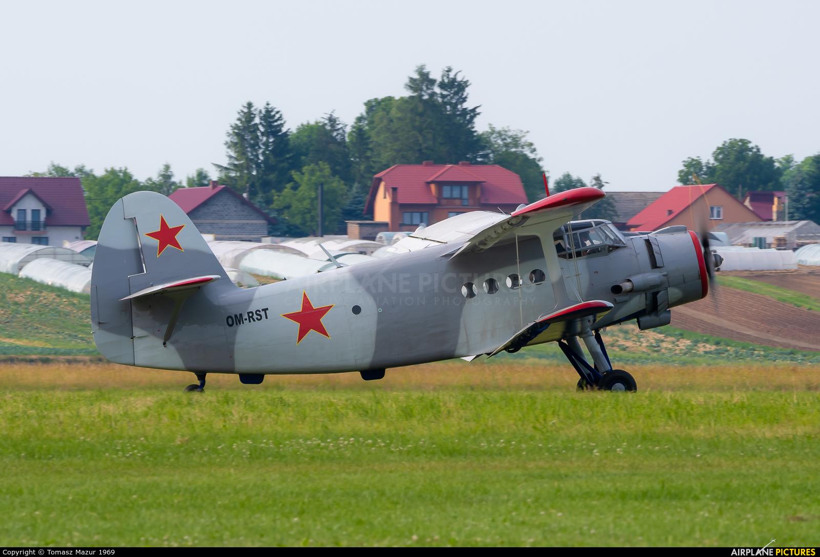 Aeroklub Kosice OM-RST aircraft at Kraków - Pobiednik Wielki
