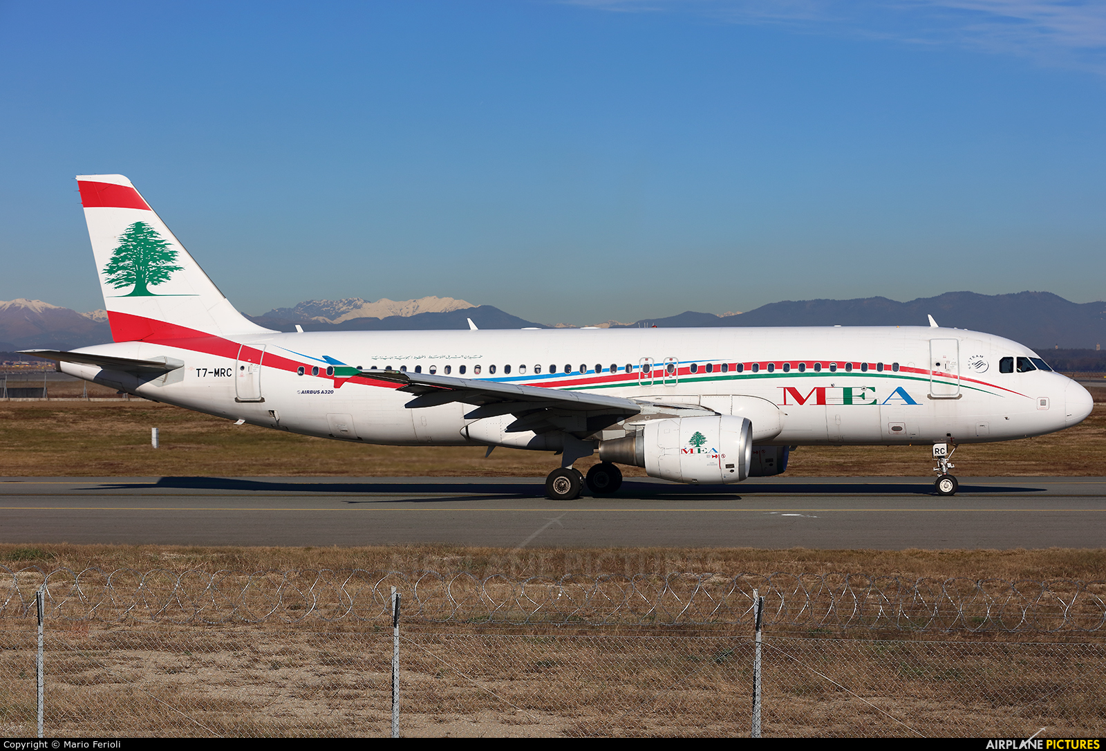 MEA - Middle East Airlines T7-MRC aircraft at Milan - Malpensa