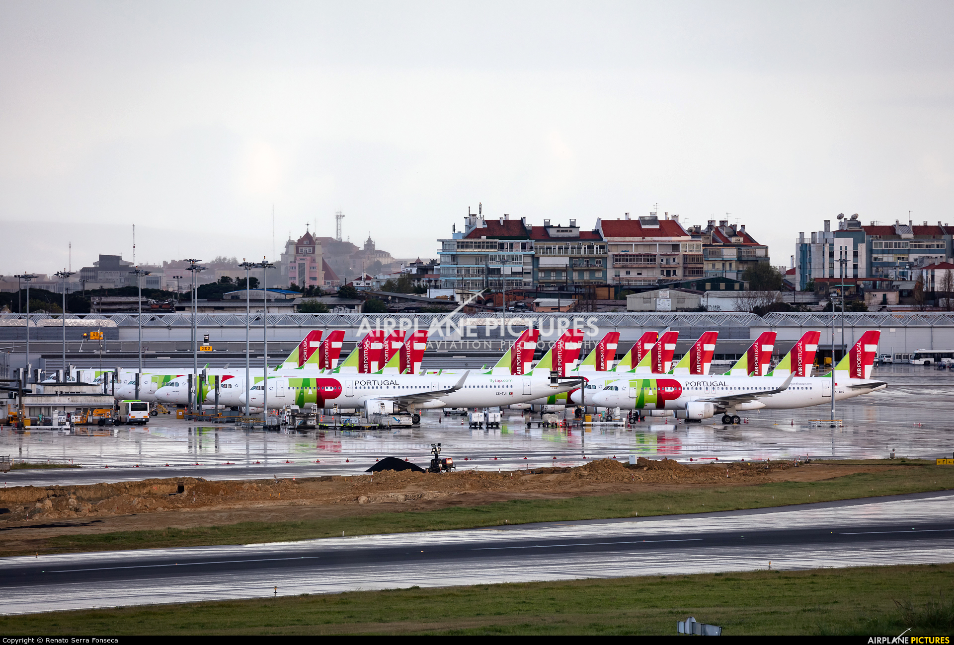 TAP Portugal LPPT aircraft at Lisbon