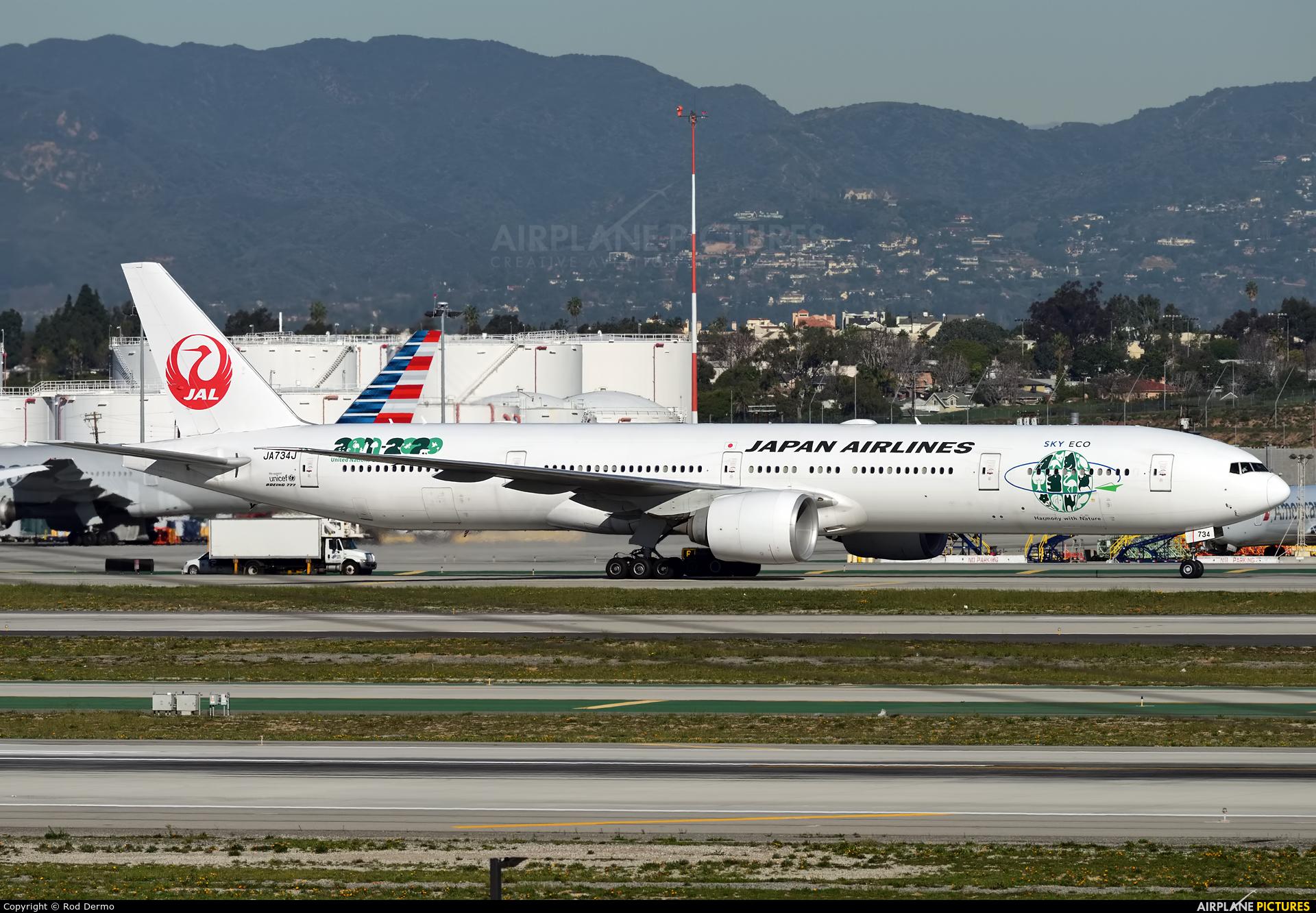 JAL - Japan Airlines JA734J aircraft at Los Angeles Intl