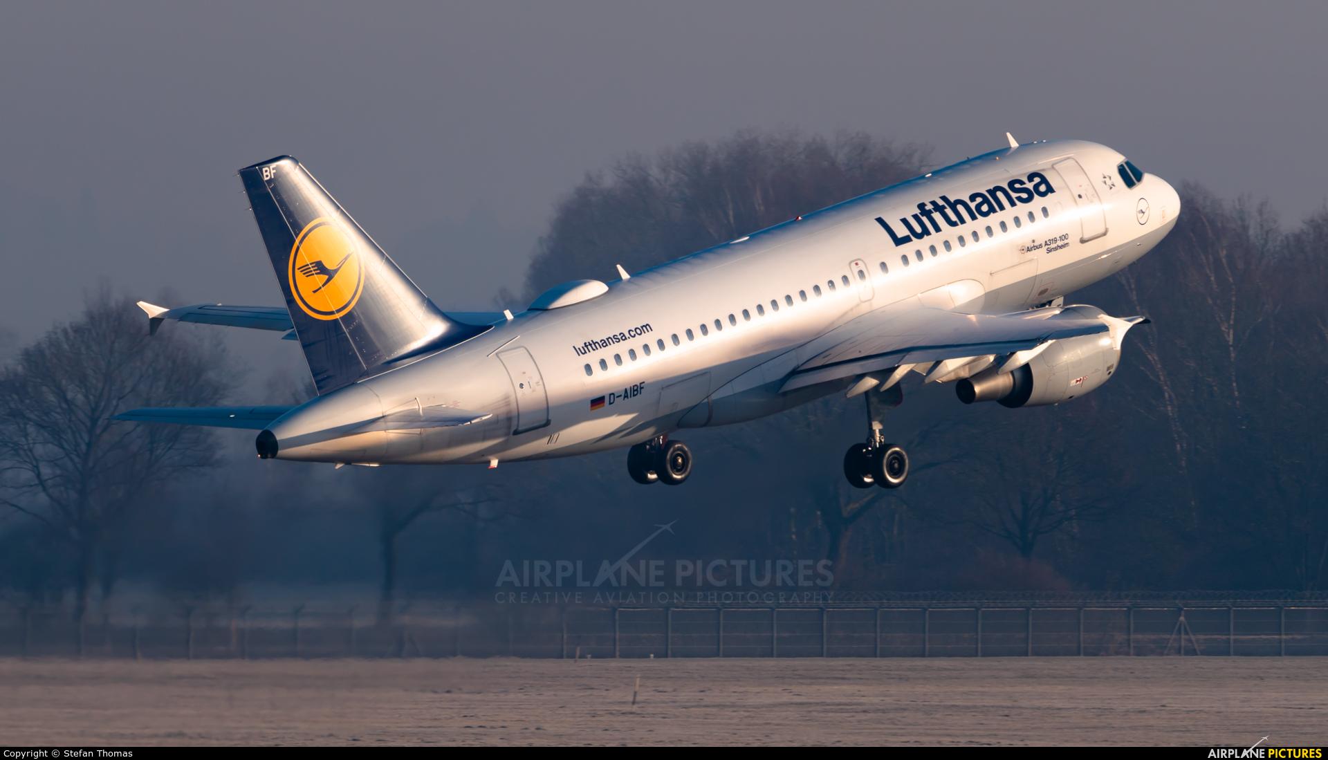Lufthansa D-AIBF aircraft at Munich