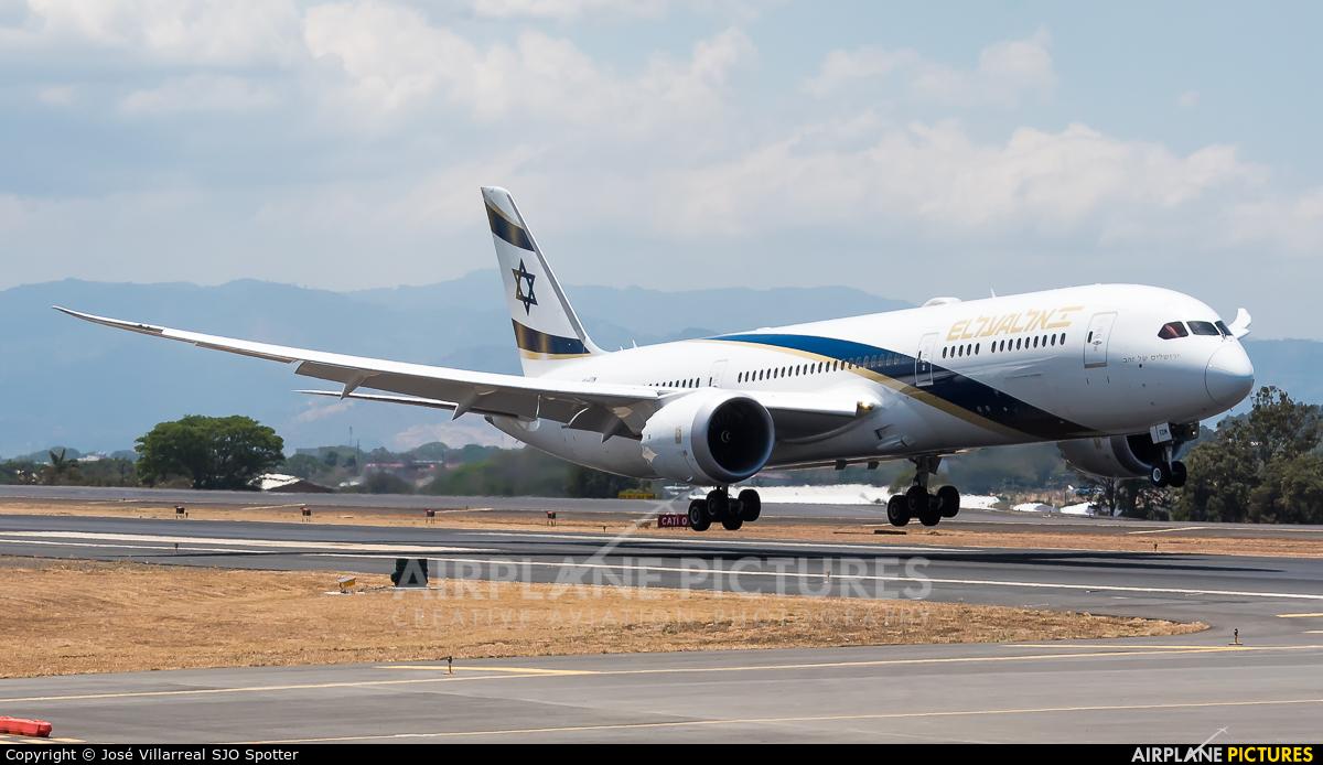 El Al Israel Airlines 4X-EDM aircraft at San Jose - Juan Santamaría Intl