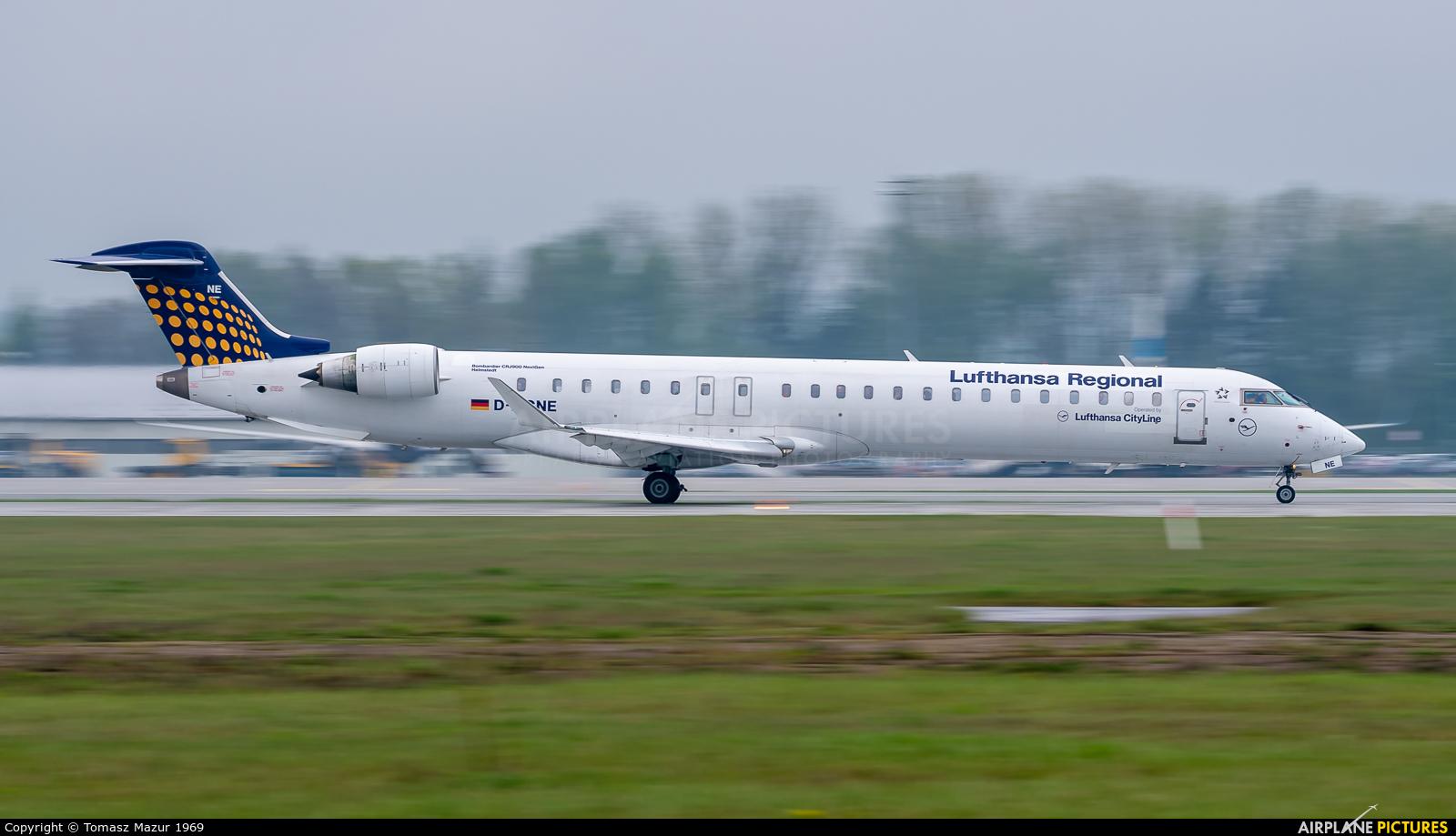 Lufthansa Regional - CityLine D-ACNE aircraft at Katowice - Pyrzowice