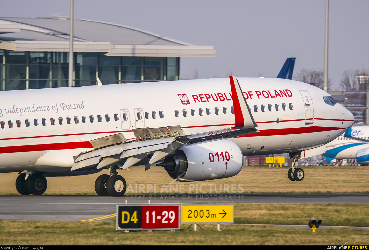 Poland - Air Force 0110 aircraft at Wrocław - Copernicus
