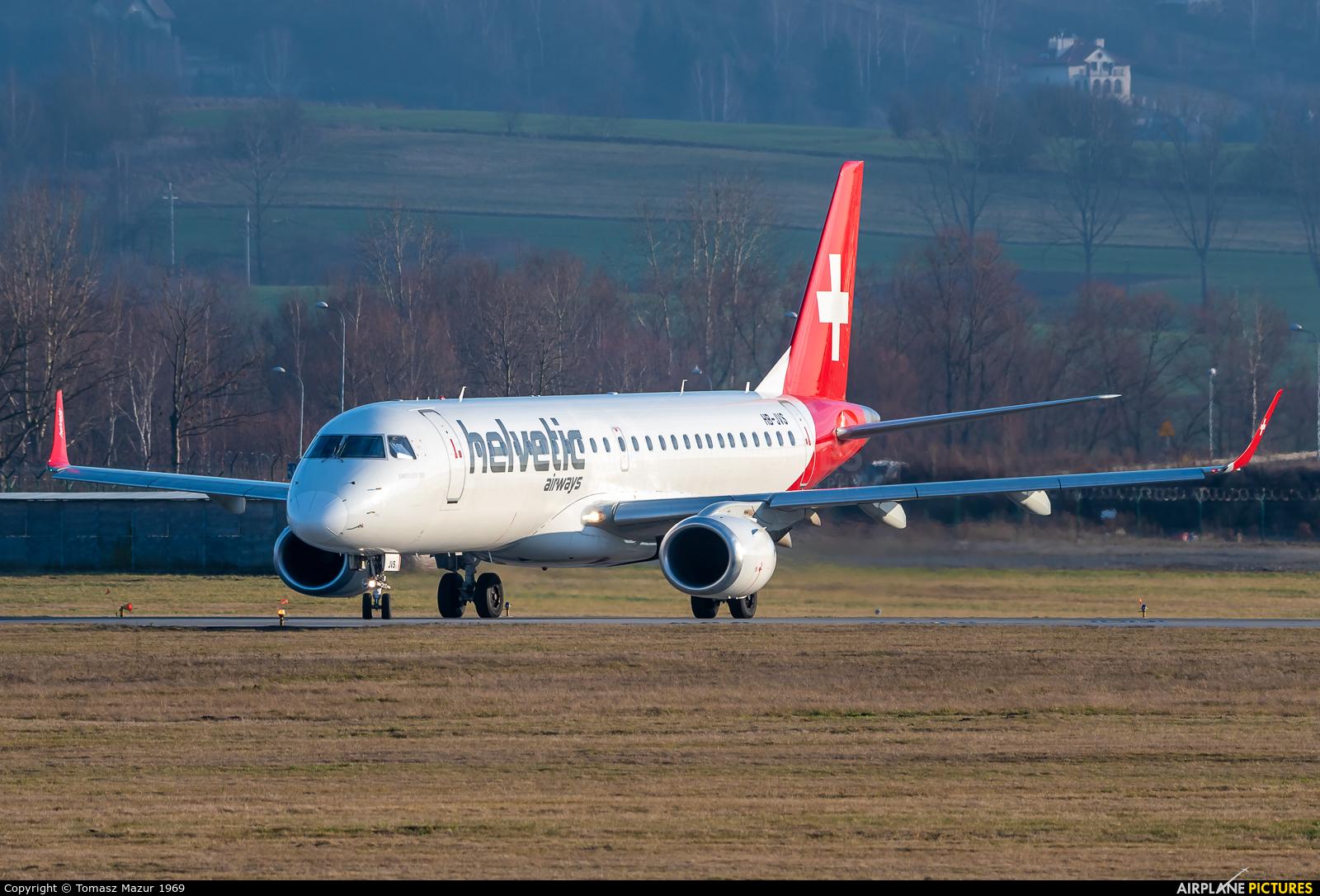 Helvetic Airways HB-JVS aircraft at Kraków - John Paul II Intl