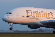 A6-EVF - Emirates Airlines Airbus A380 aircraft