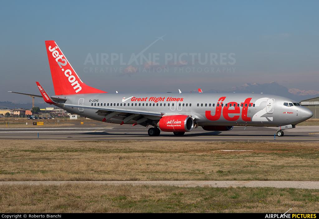 Jet2 G-JZHG aircraft at Verona - Villafranca