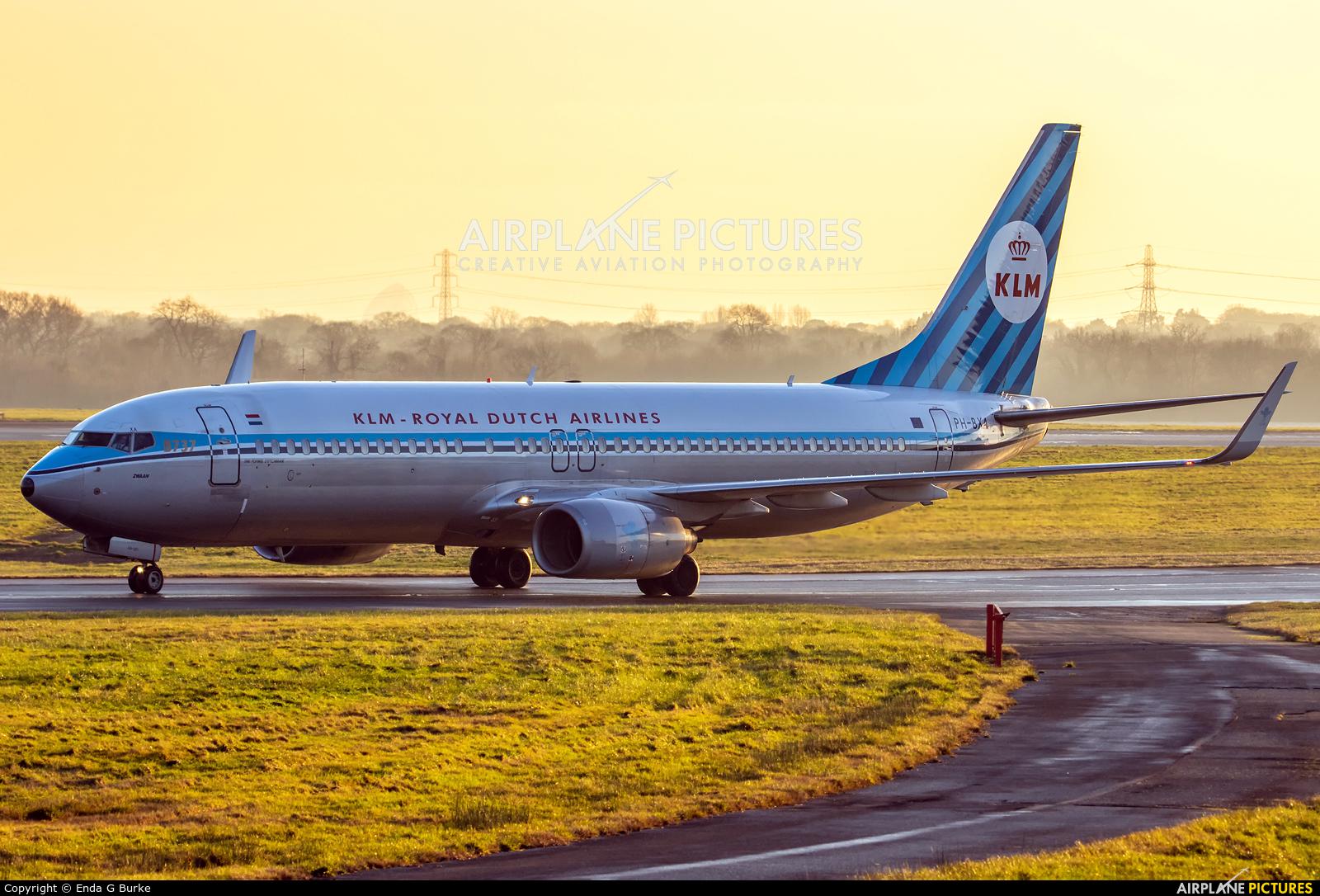 KLM PH-BXA aircraft at Manchester