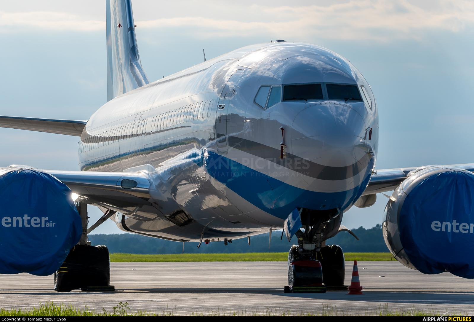 Enter Air SP-EXA aircraft at Katowice - Pyrzowice