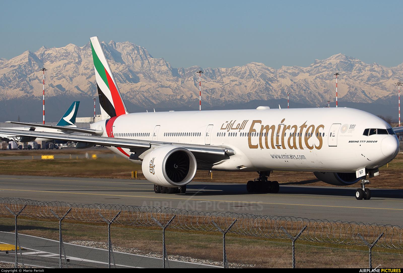Emirates Airlines A6-ENP aircraft at Milan - Malpensa