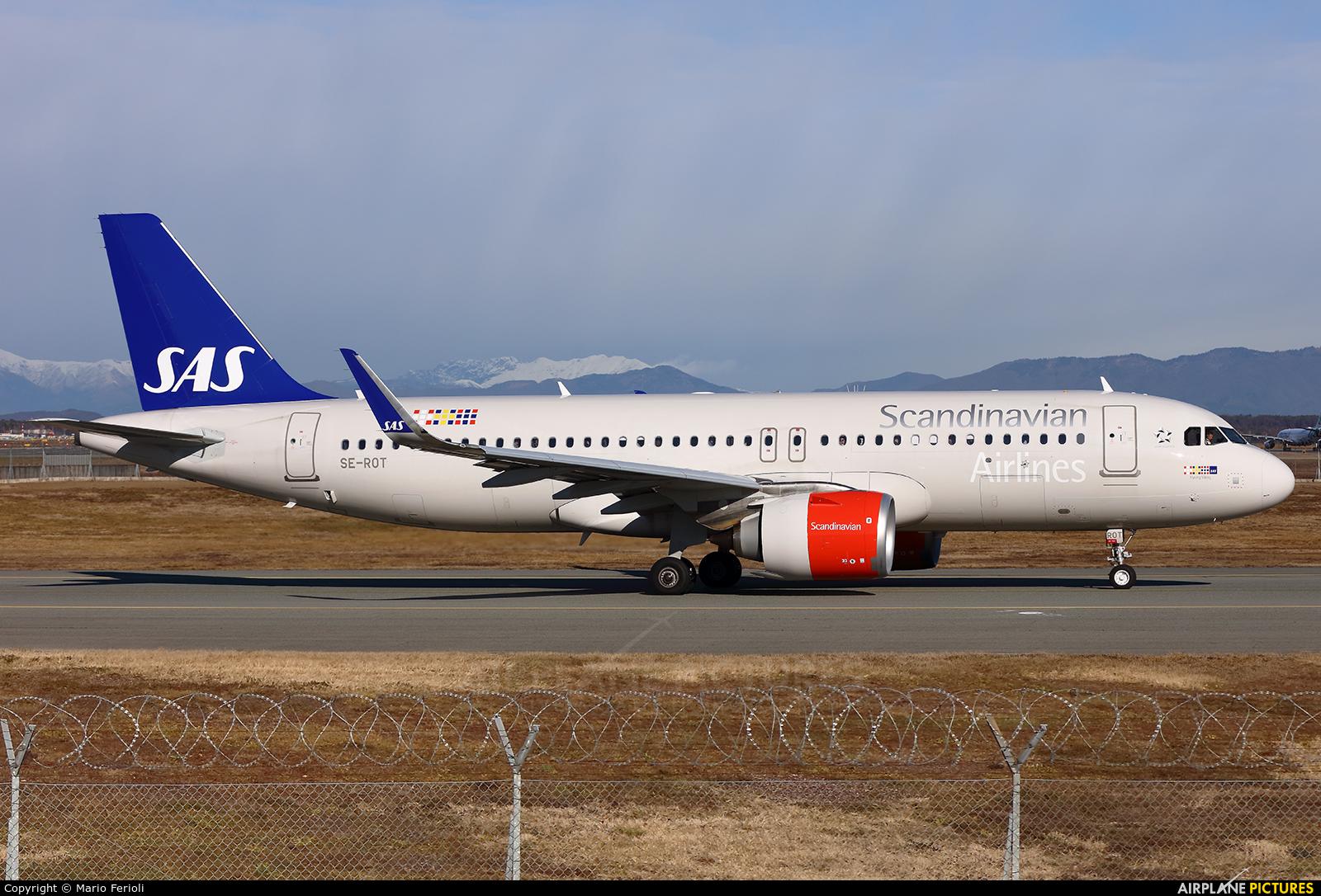 SAS - Scandinavian Airlines SE-ROT aircraft at Milan - Malpensa