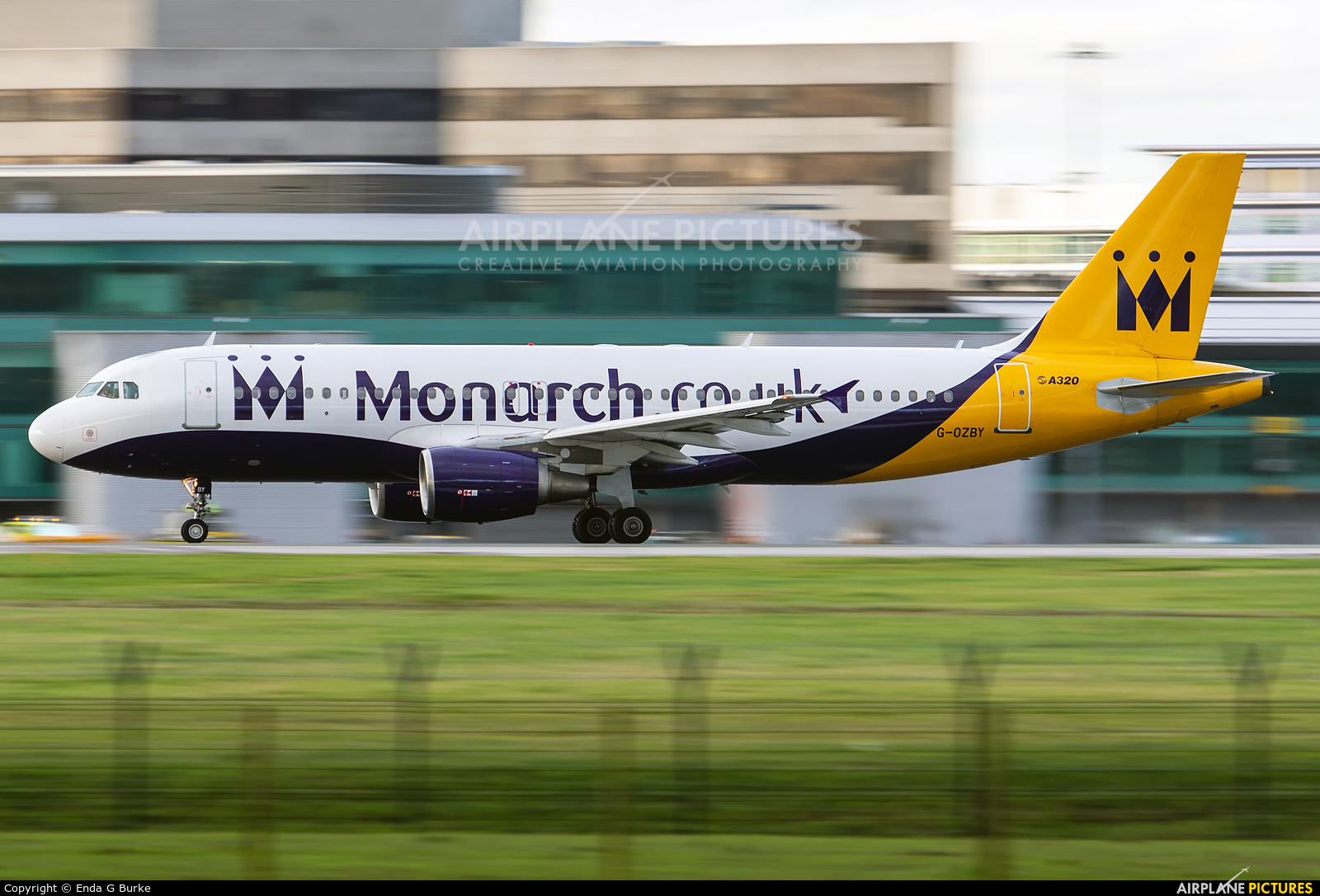 Monarch Airlines G-OZBY aircraft at Manchester