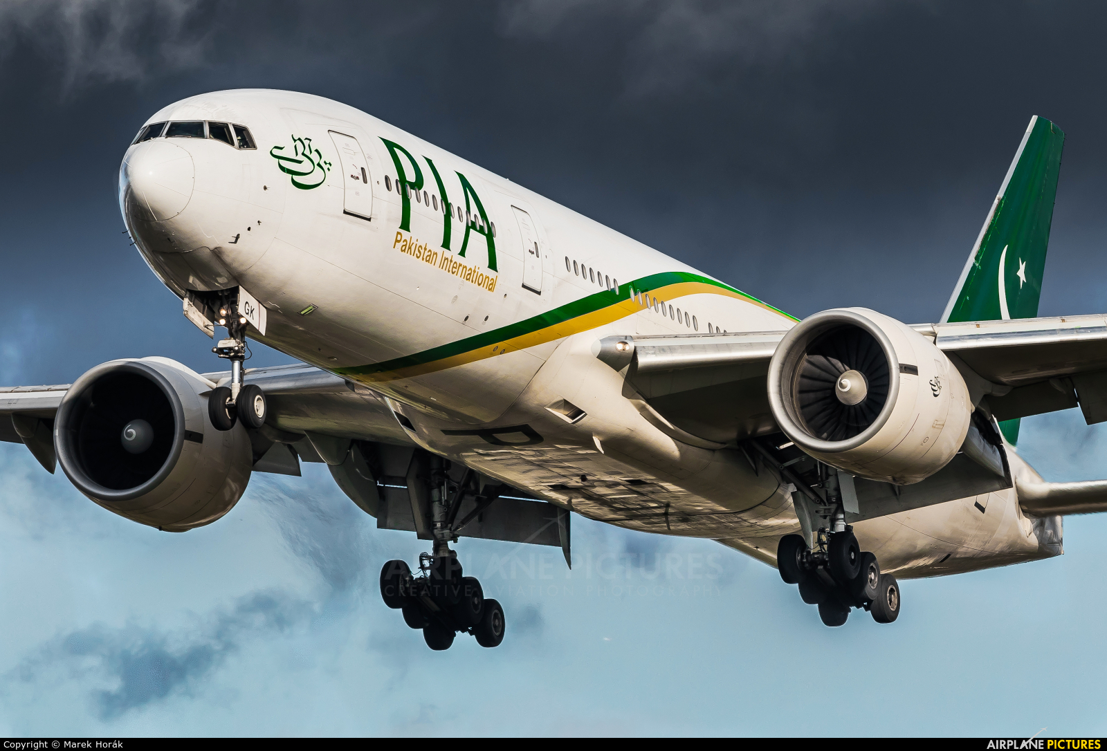 PIA - Pakistan International Airlines AP-BGK aircraft at London - Heathrow