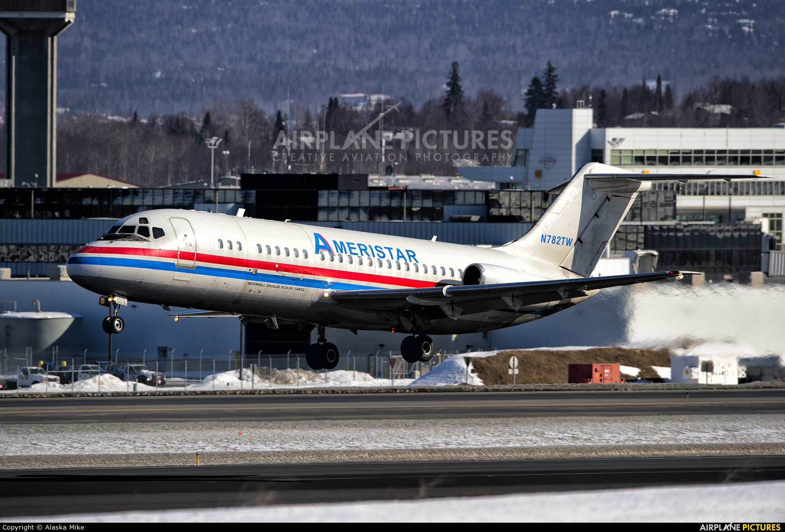 Ameristar Air Cargo N782TW aircraft at Anchorage - Ted Stevens Intl / Kulis Air National Guard Base