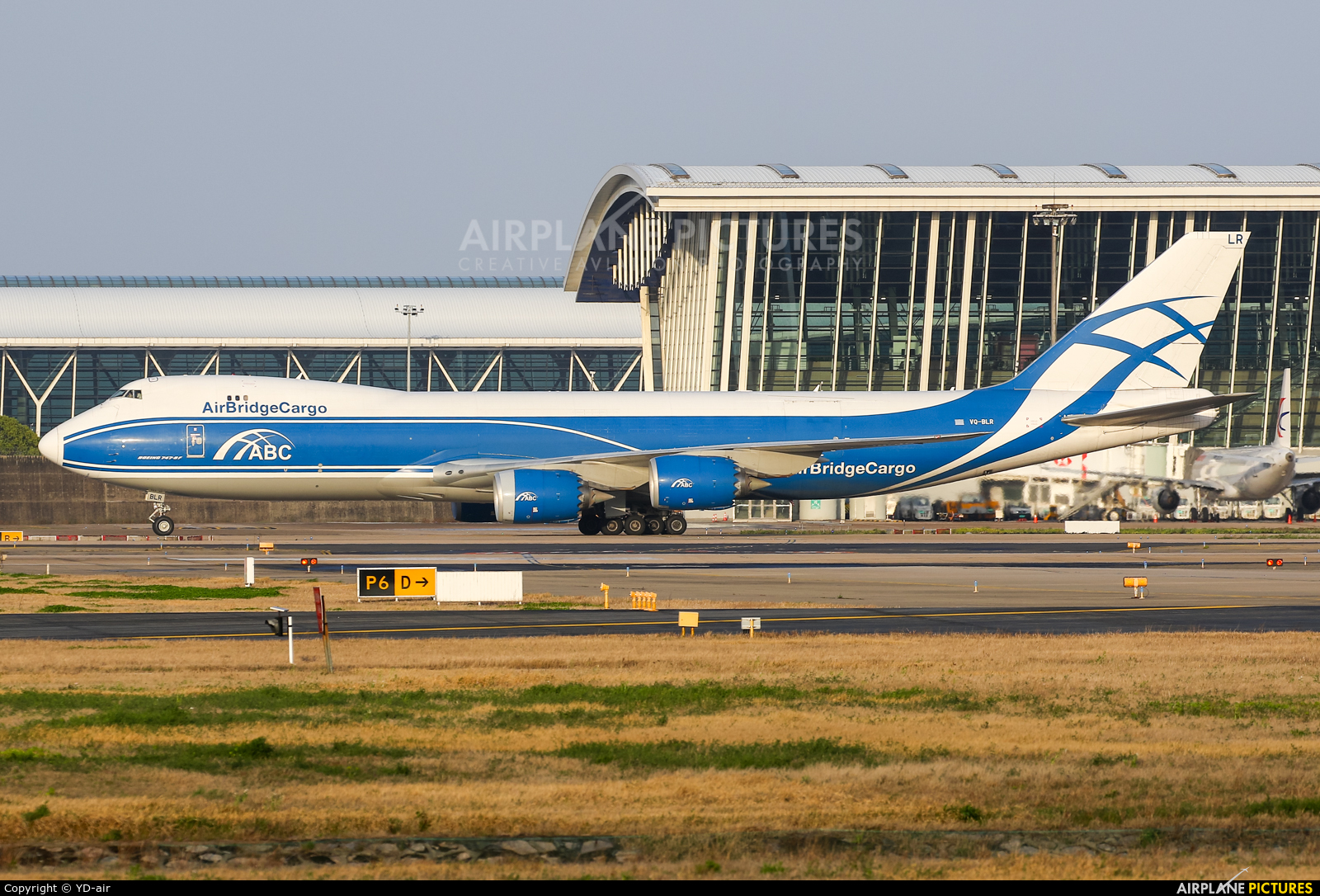 Air Bridge Cargo VQ-BLR aircraft at Shanghai - Pudong Intl