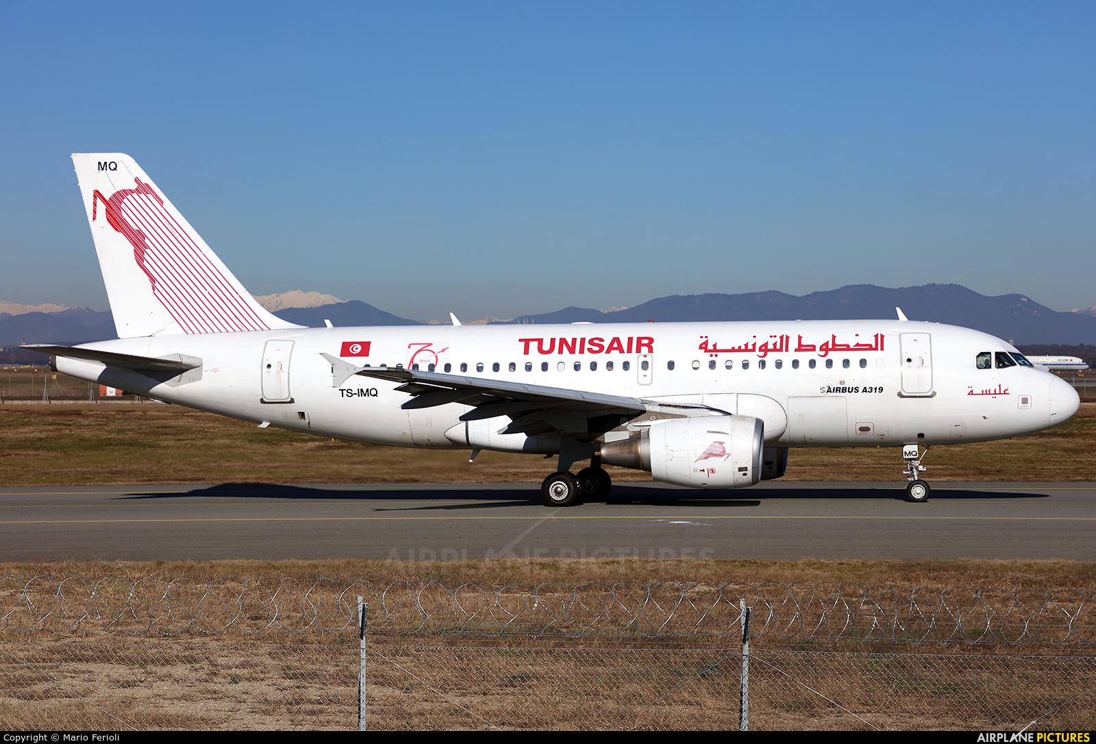 Tunisair TS-IMQ aircraft at Milan - Malpensa