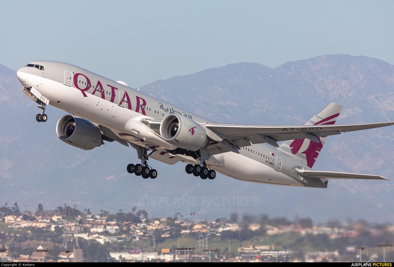 Qatar Airways A7-BBD aircraft at Los Angeles Intl