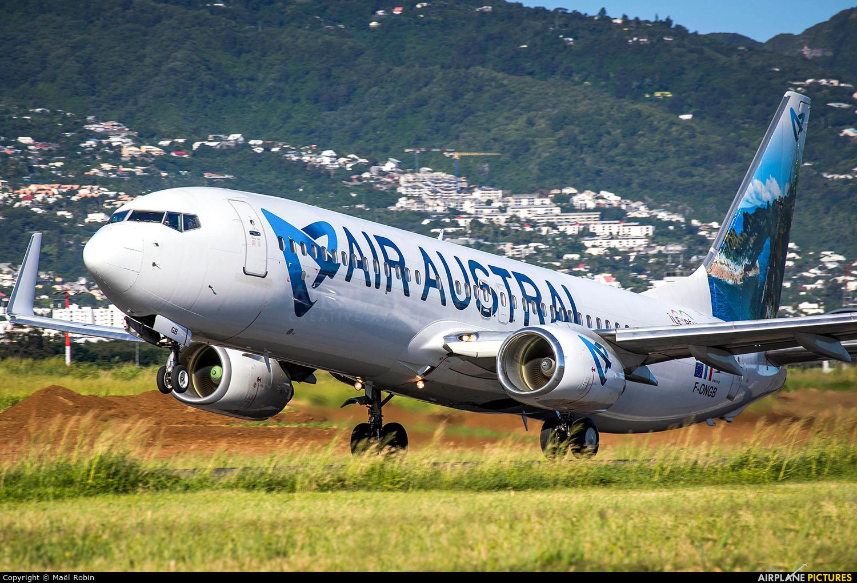 Air Austral F-ONGB aircraft at Roland Garros - Saint-Denis