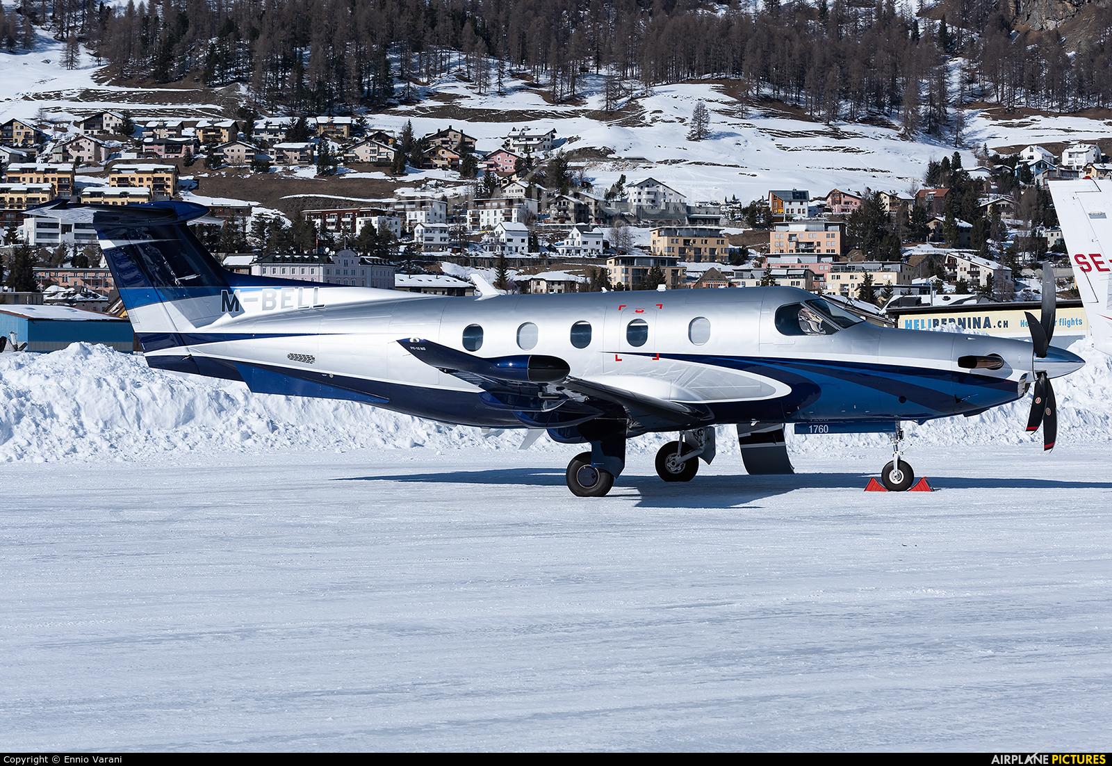 Private M-BELL aircraft at Samedan - Engadin