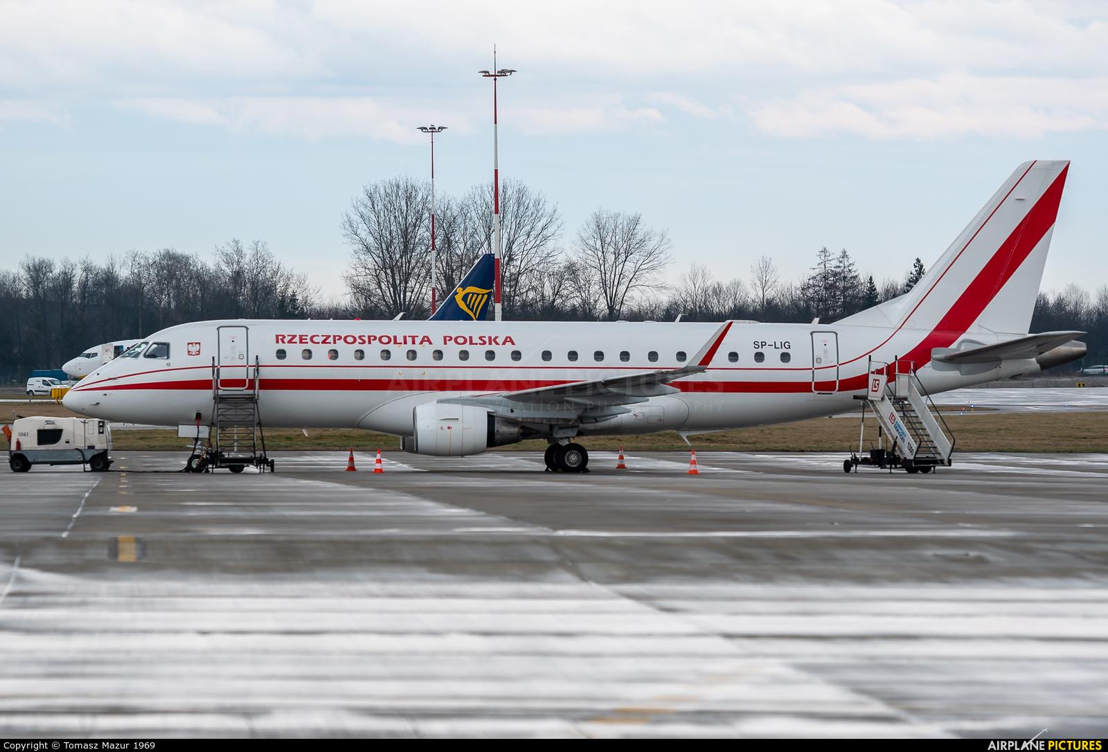 Poland - Government SP-LIG aircraft at Kraków - John Paul II Intl