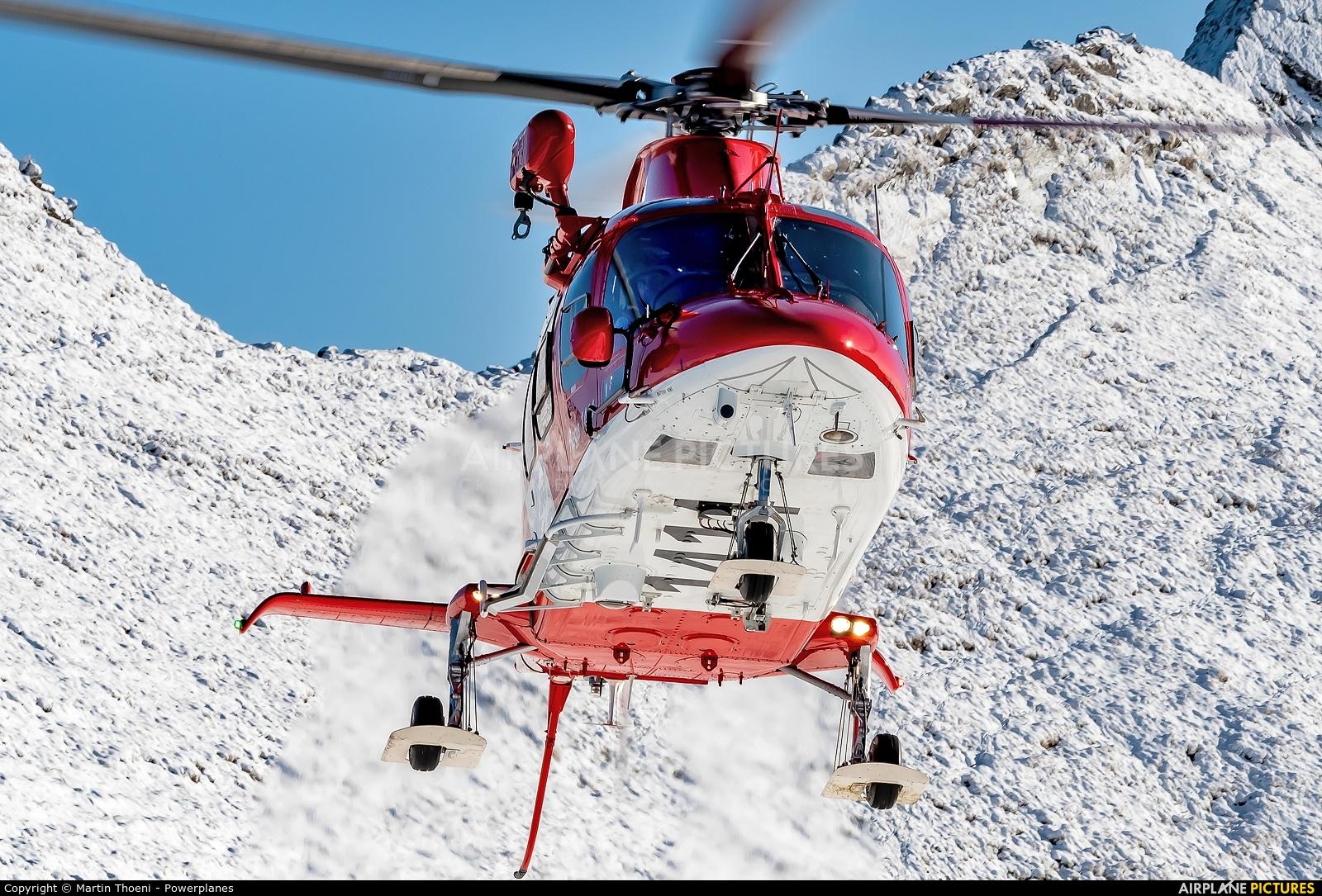REGA Swiss Air Ambulance  HB-ZRX aircraft at Axalp - Ebenfluh Range