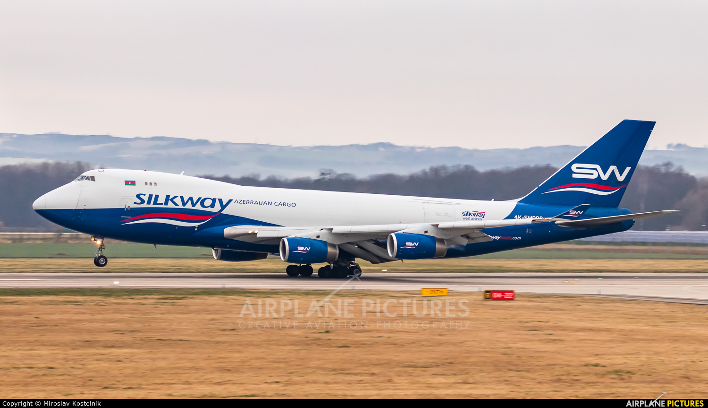 Silk Way Airlines 4K-SW008 aircraft at Ostrava Mošnov