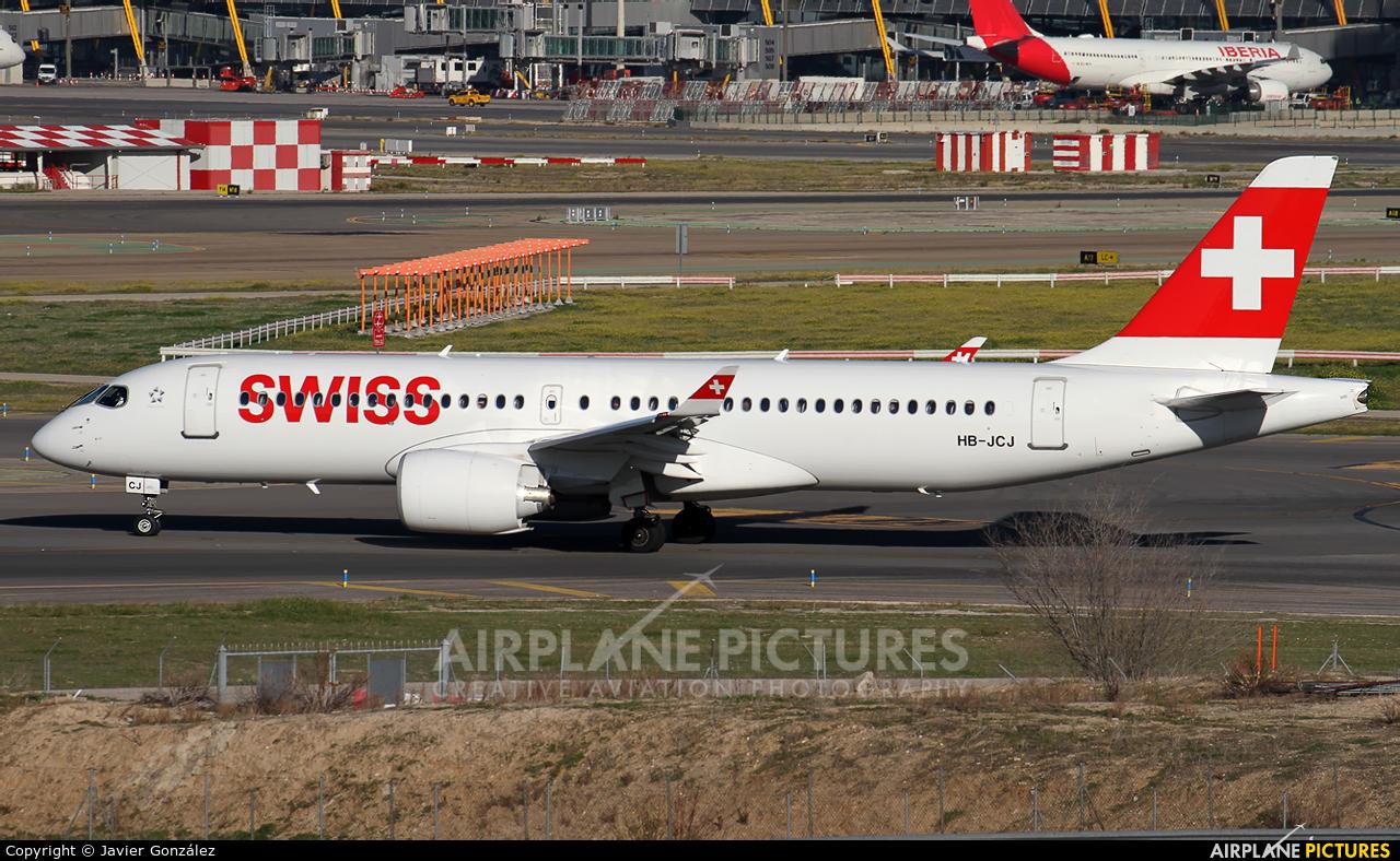 Swiss HB-JCJ aircraft at Madrid - Barajas