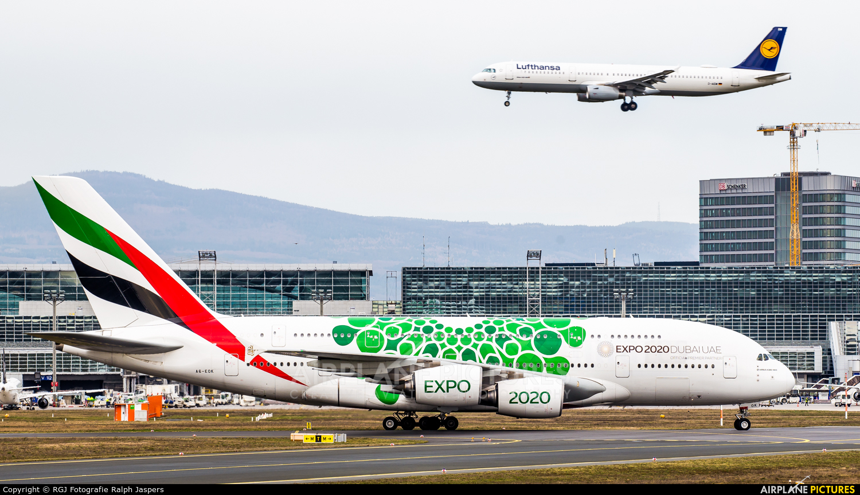 Emirates Airlines A6-EOK aircraft at Frankfurt