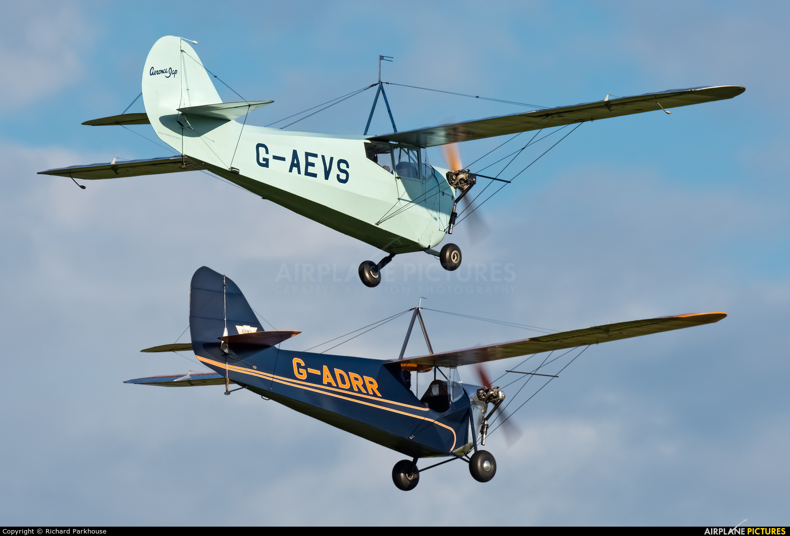 Private G-AEVS aircraft at Old Warden