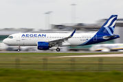 SX-NEB - Aegean Airlines Airbus A320 NEO aircraft