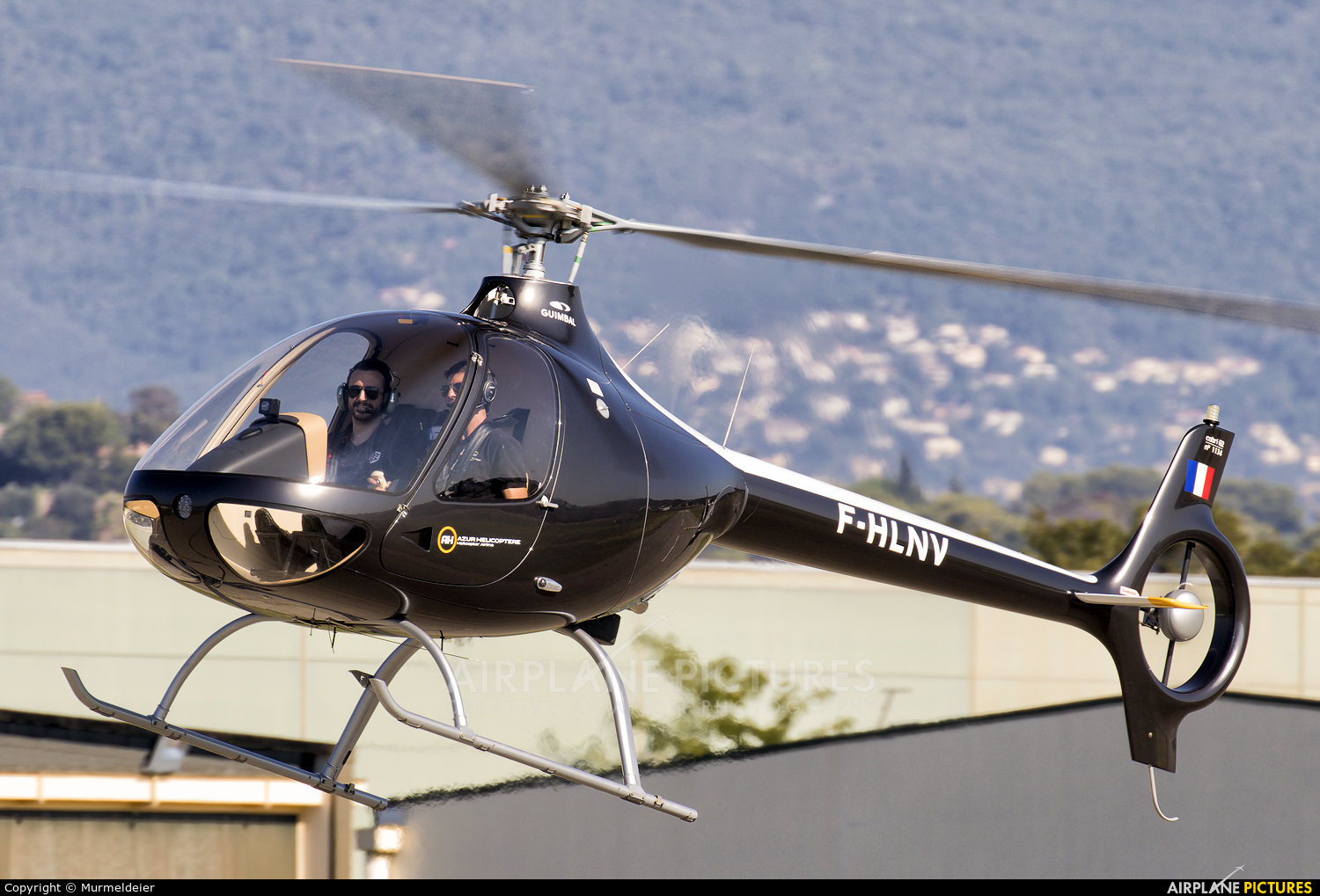 Azur Helicoptere F-HLNV aircraft at Cannes - Mandelieu