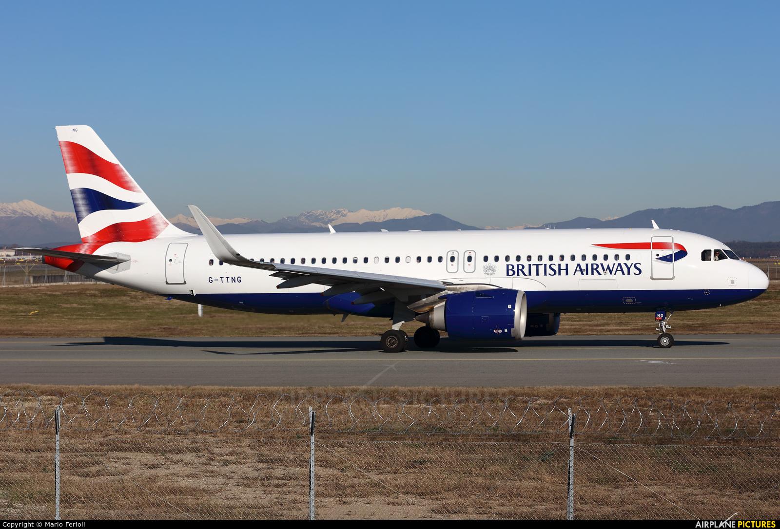 British Airways G-TTNG aircraft at Milan - Malpensa