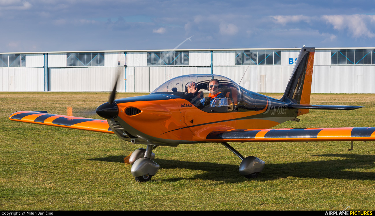 Private OM-S323 aircraft at Partizanske