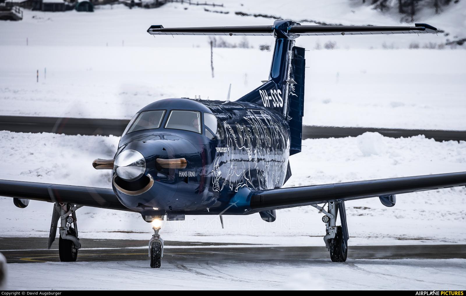 FLY 7 Executive Aviation SA OH-SSS aircraft at Samedan - Engadin