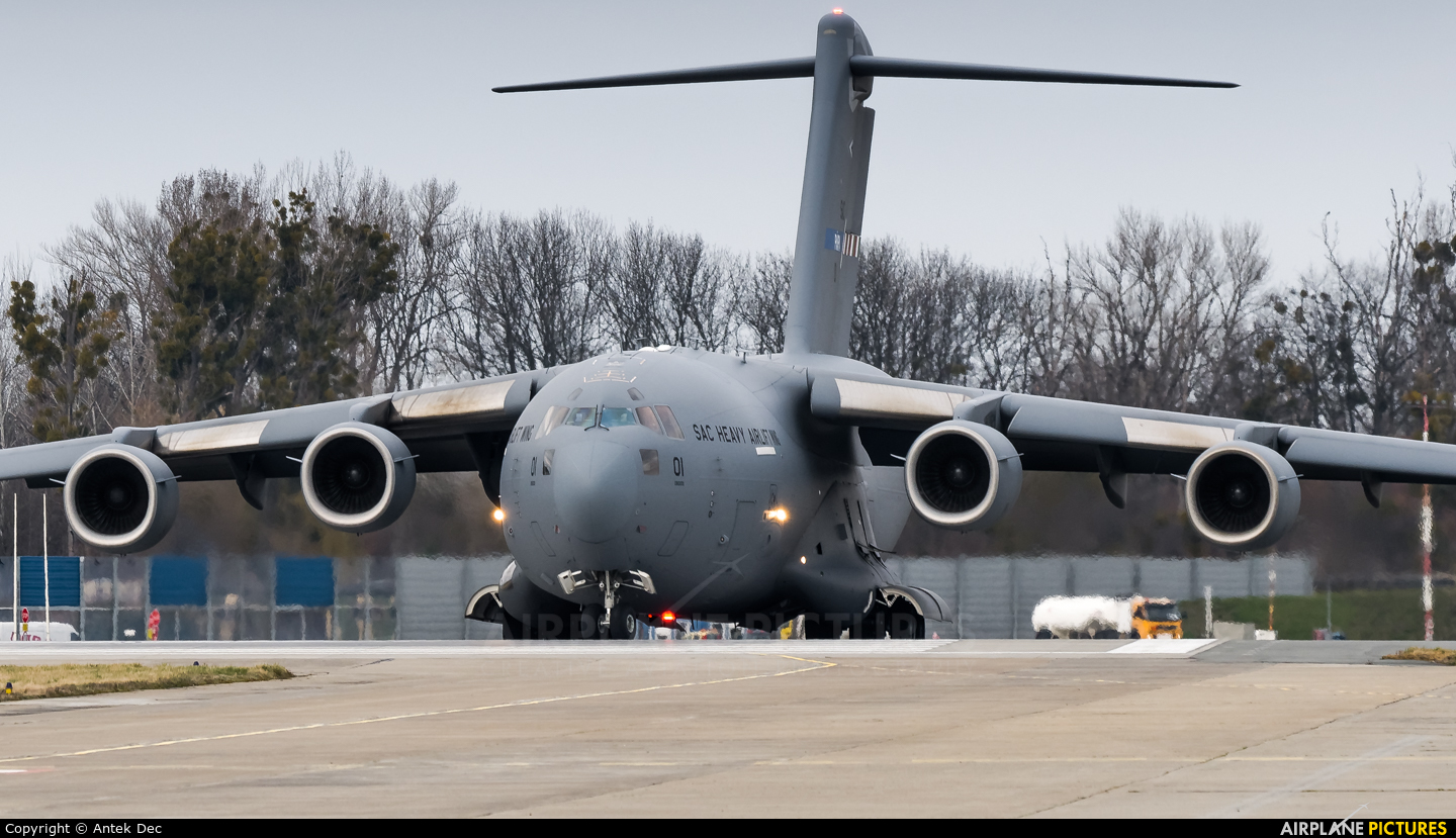 Strategic Airlift Capability NATO 08-0001 aircraft at Wrocław - Copernicus