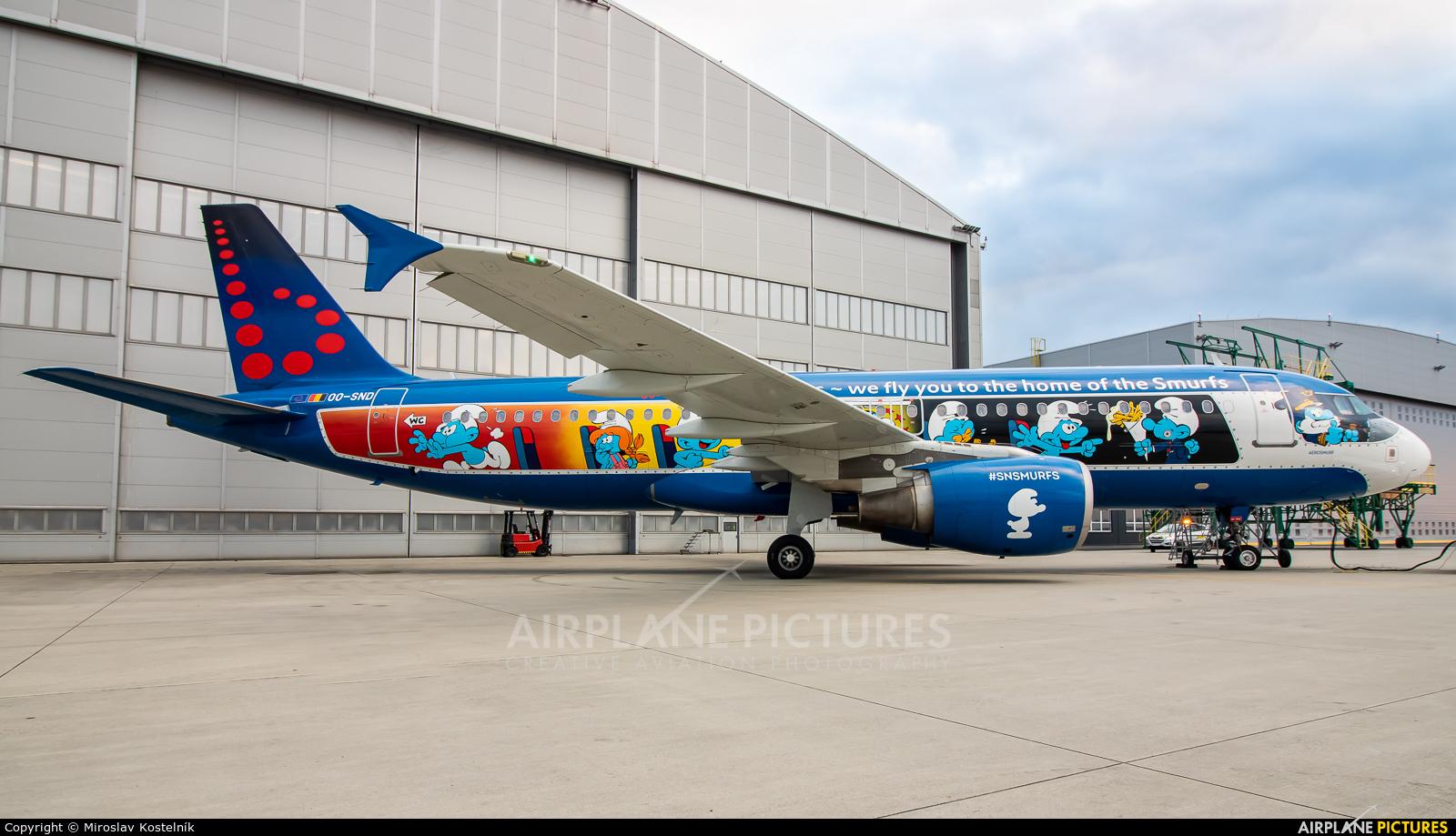 Brussels Airlines OO-SND aircraft at Ostrava Mošnov