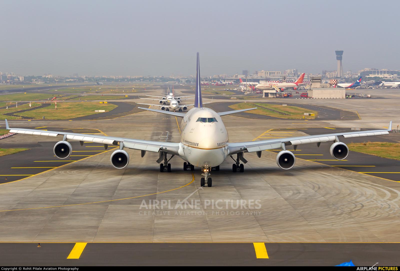 Saudi Arabian Airlines TF-AAE aircraft at Mumbai - Chhatrapati Shivaji Intl