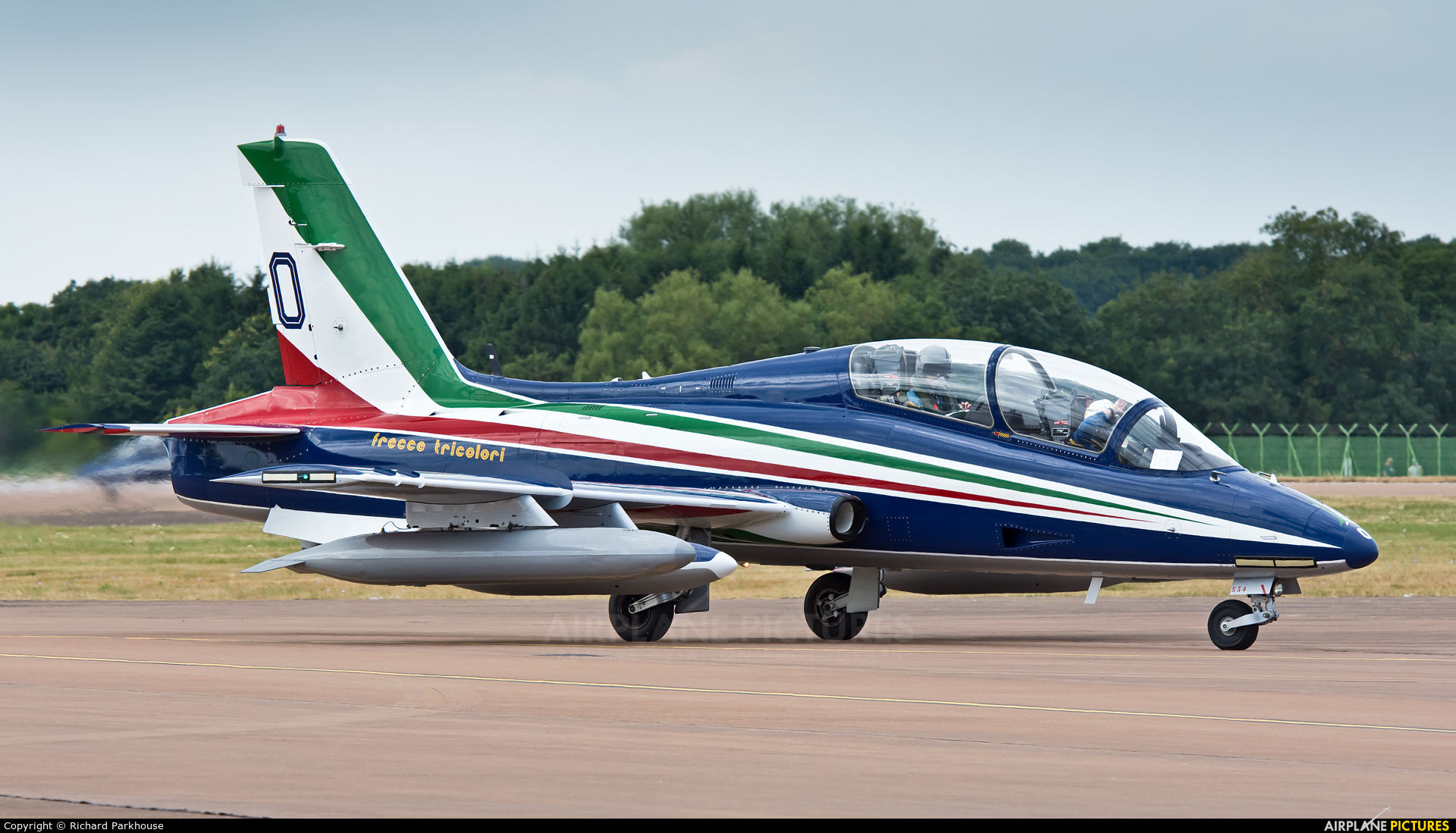 """Italy - Air Force """"Frecce Tricolori"""" MM54500 aircraft at Fairford"""