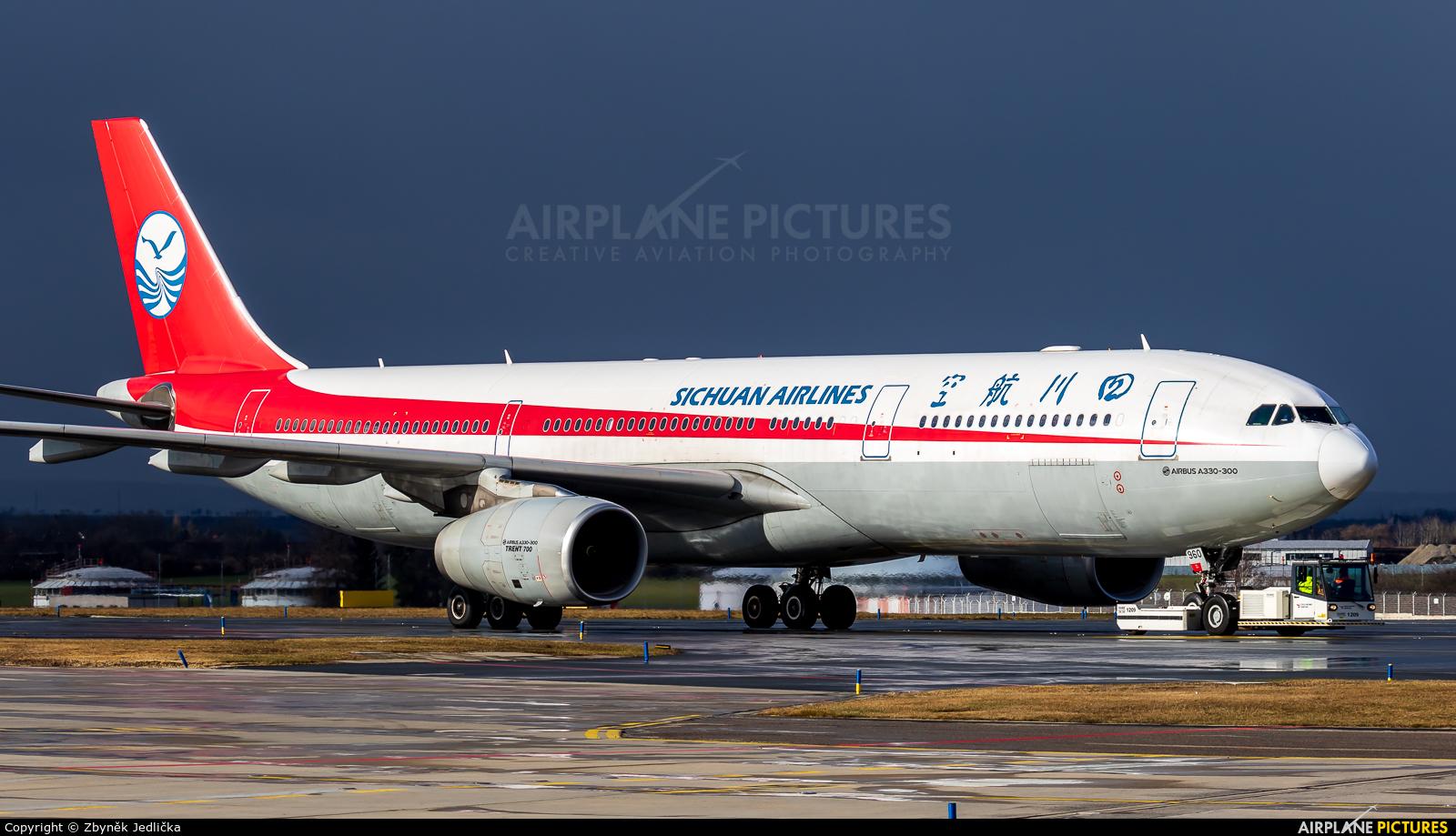 Sichuan Airlines  B-5960 aircraft at Prague - Václav Havel