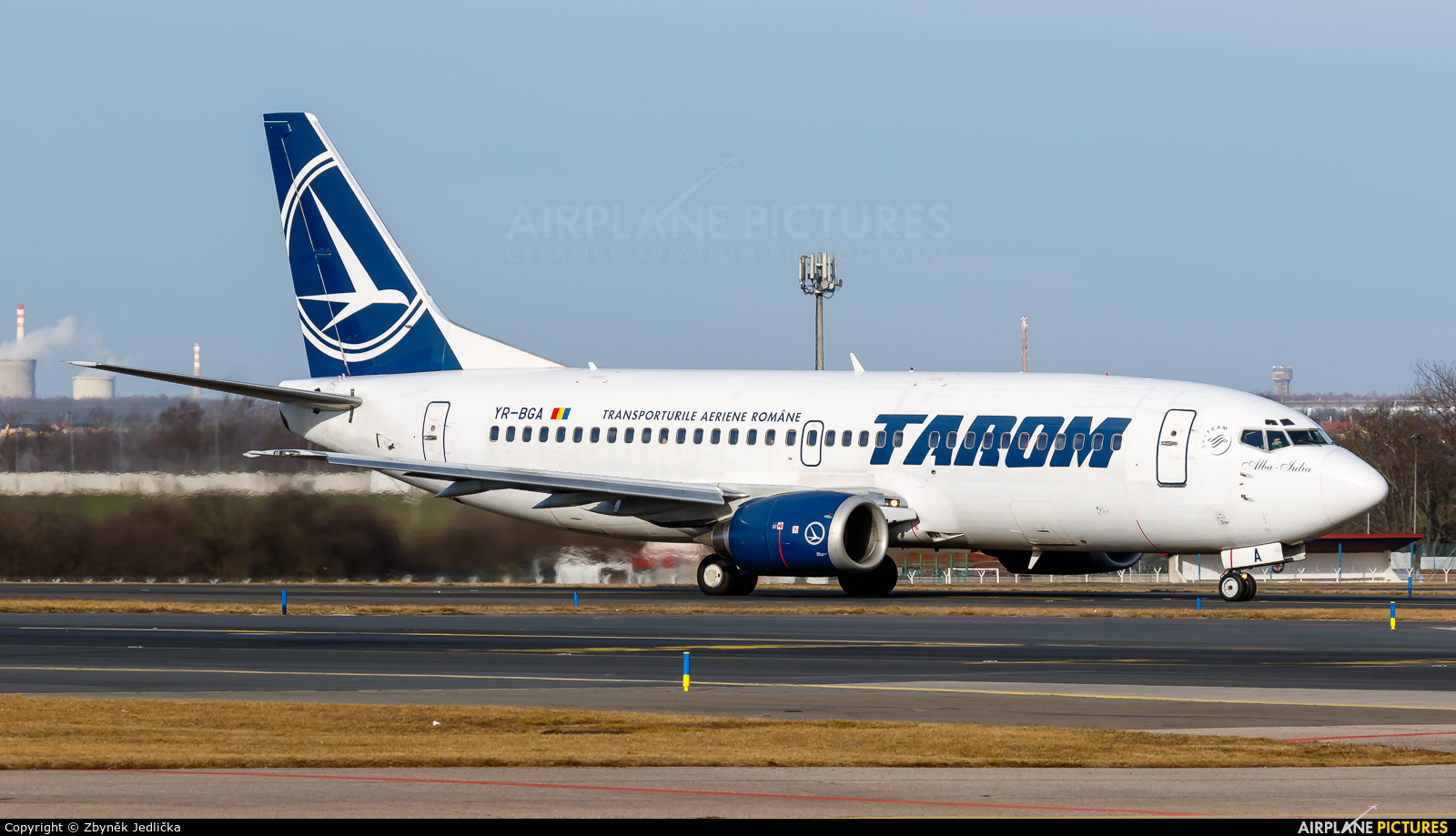 Tarom YR-BGA aircraft at Prague - Václav Havel