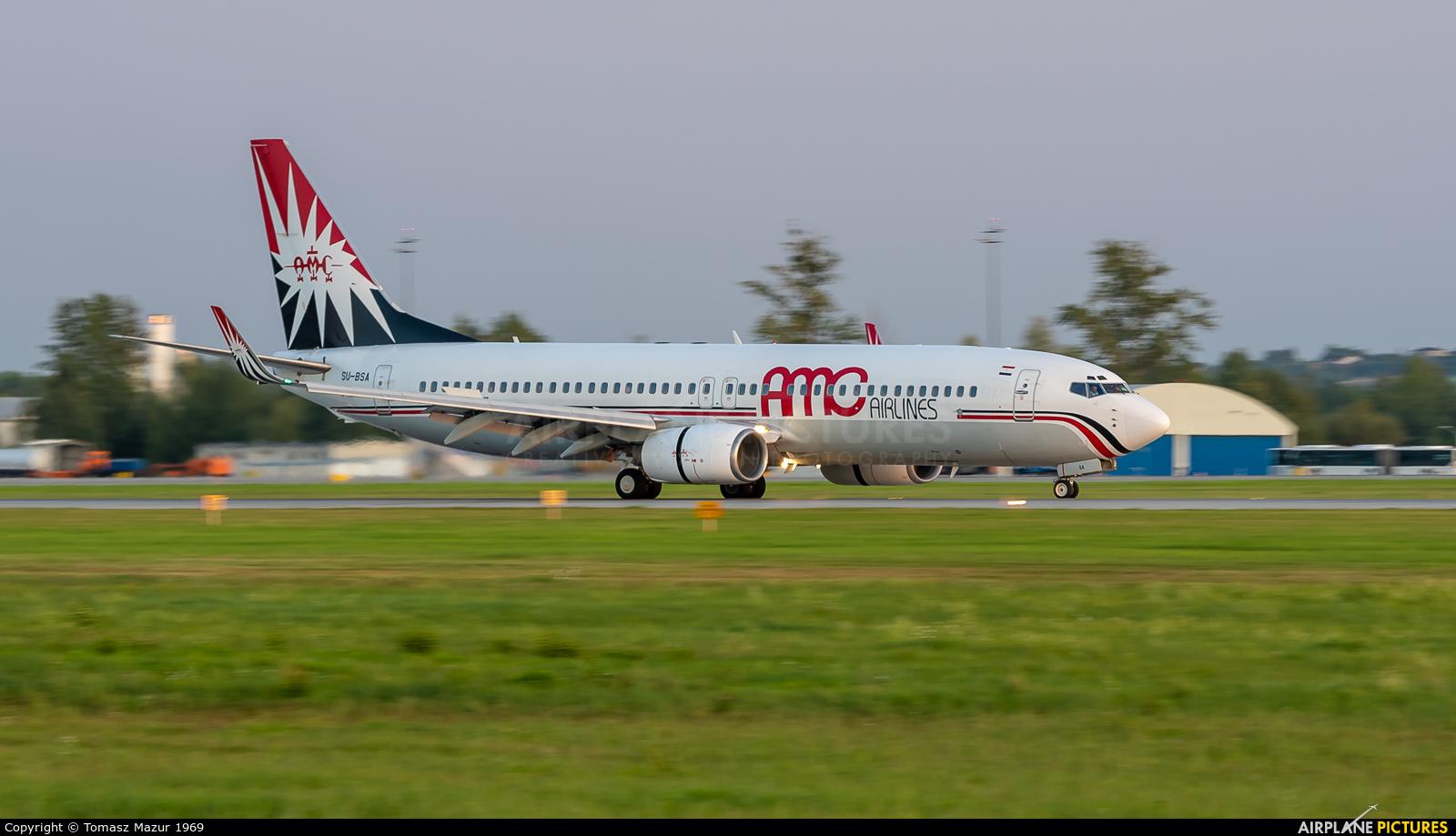AMC Airlines SU-BSA aircraft at Katowice - Pyrzowice