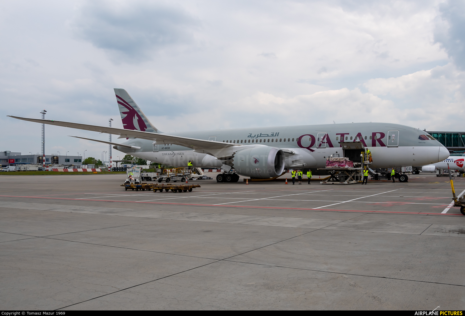 Qatar Airways A7-BCD aircraft at Prague - Václav Havel