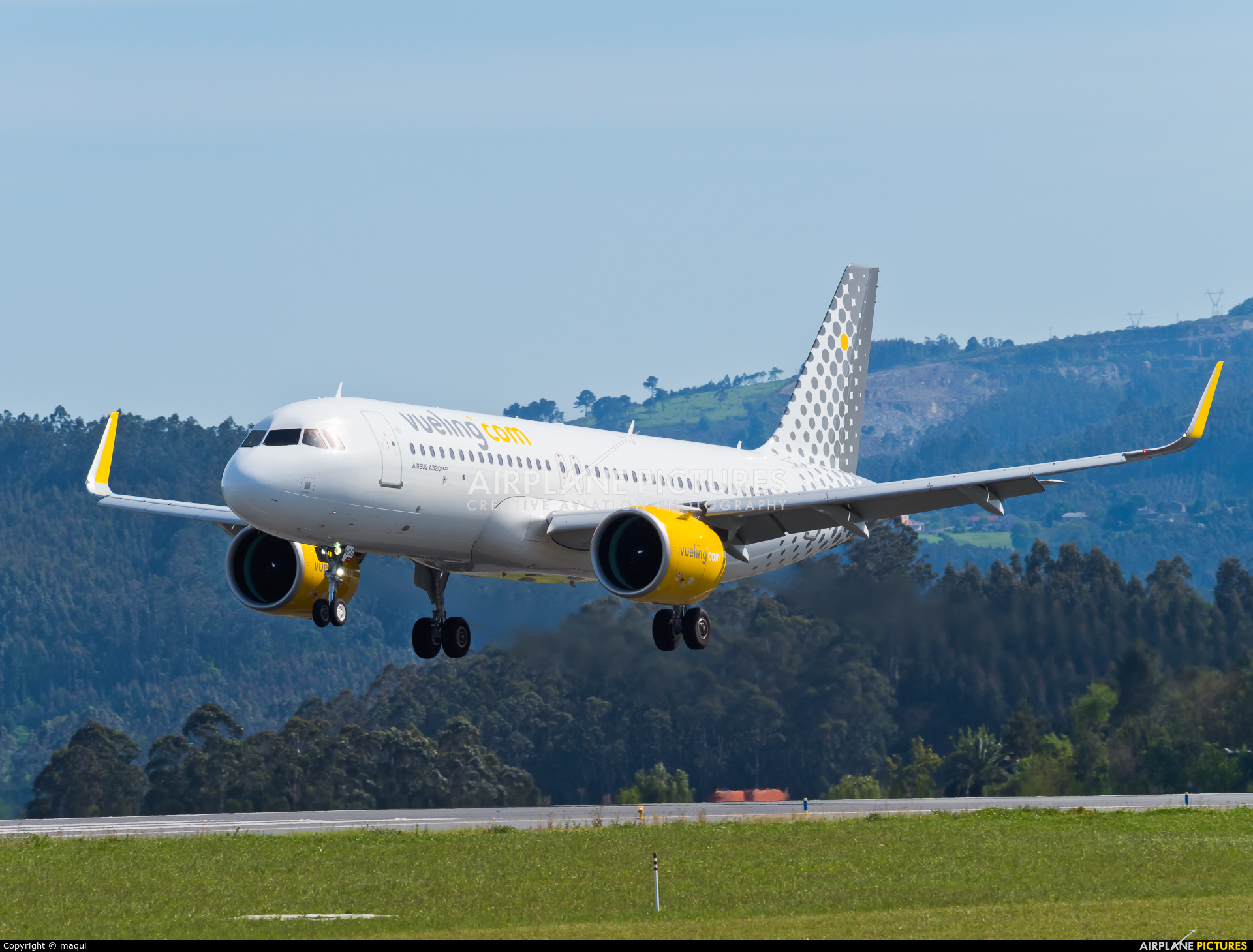 Vueling Airlines EC-NCG aircraft at La Coruña