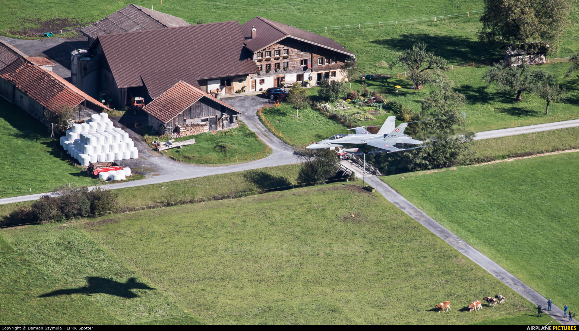 Switzerland - Air Force J-5006 aircraft at Meiringen