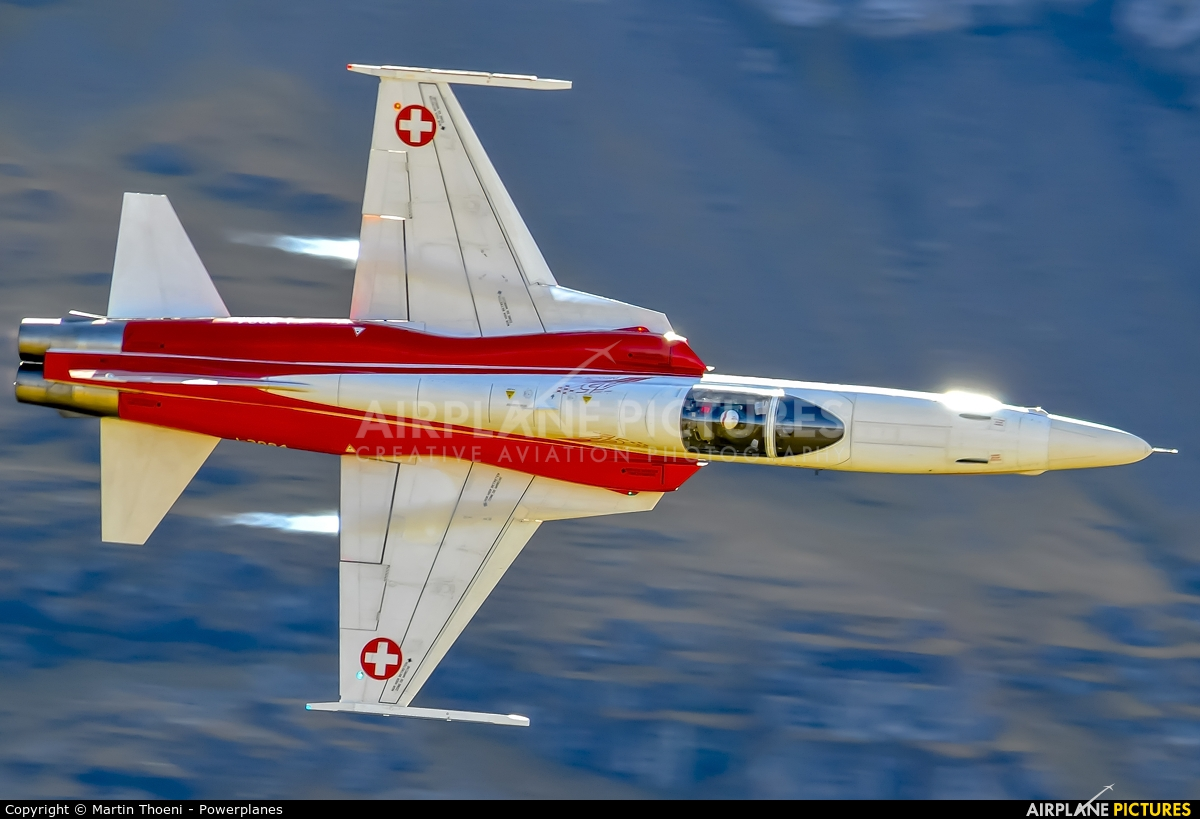Switzerland - Air Force: Patrouille Suisse J-3084 aircraft at Axalp - Ebenfluh Range