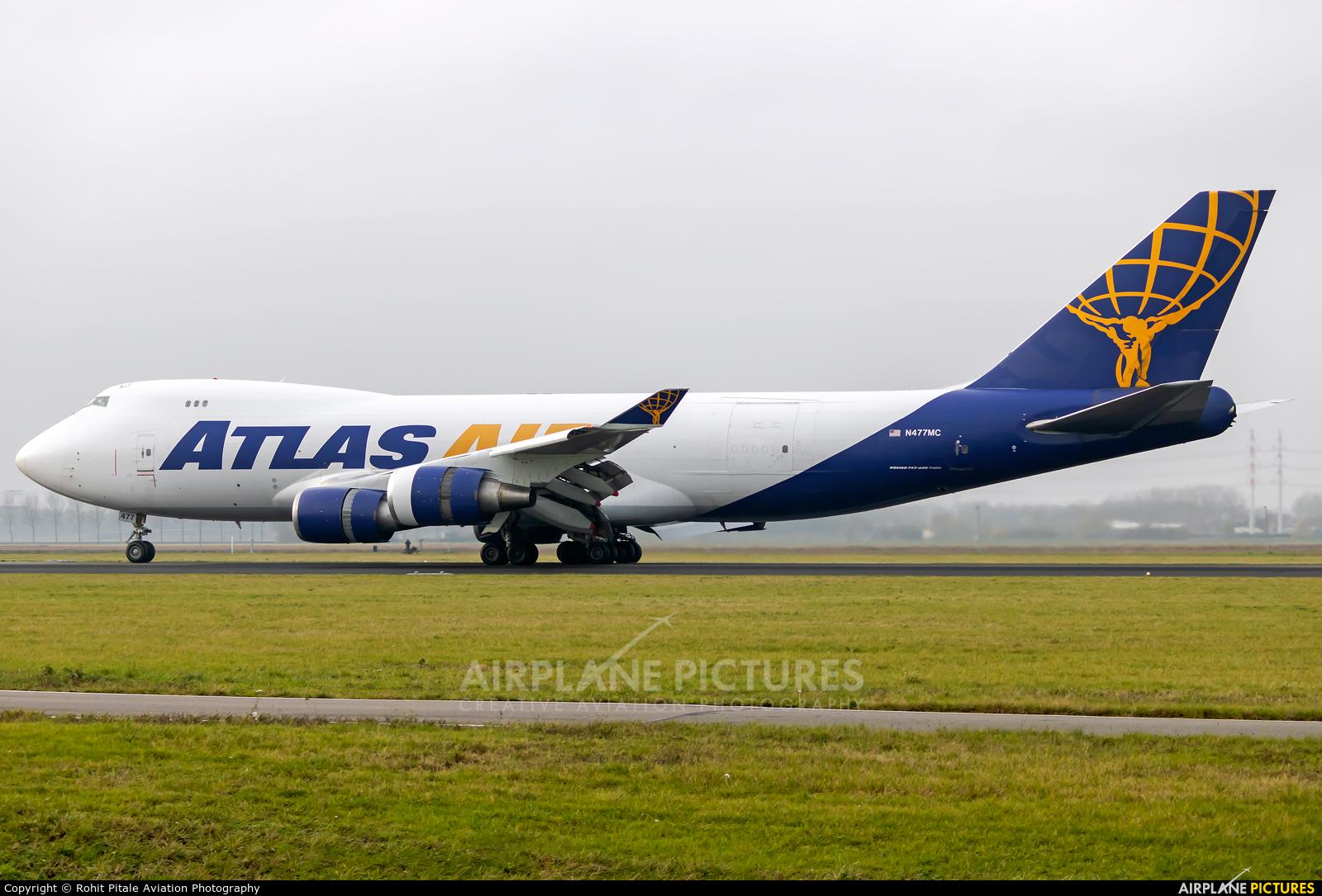 Atlas Air N477MC aircraft at Amsterdam - Schiphol
